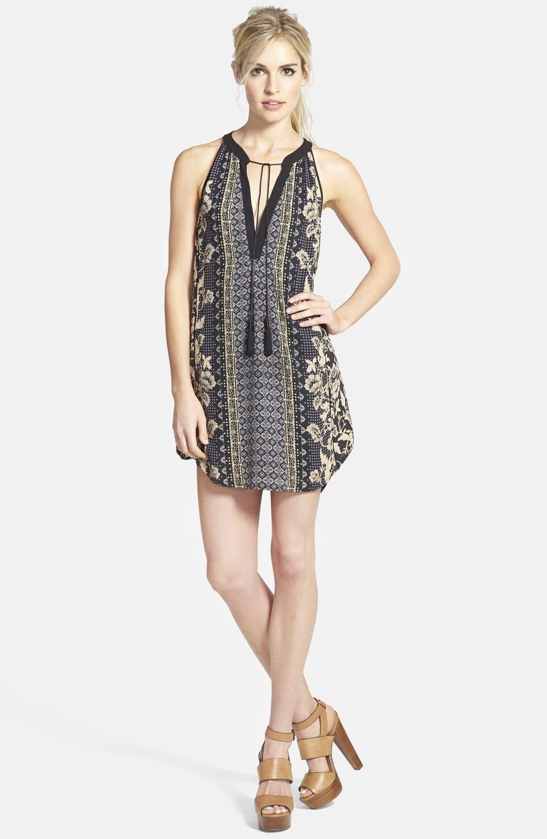 Alternate Image 1 Selected - ASTR Tassel Sleeveless Shift Dress