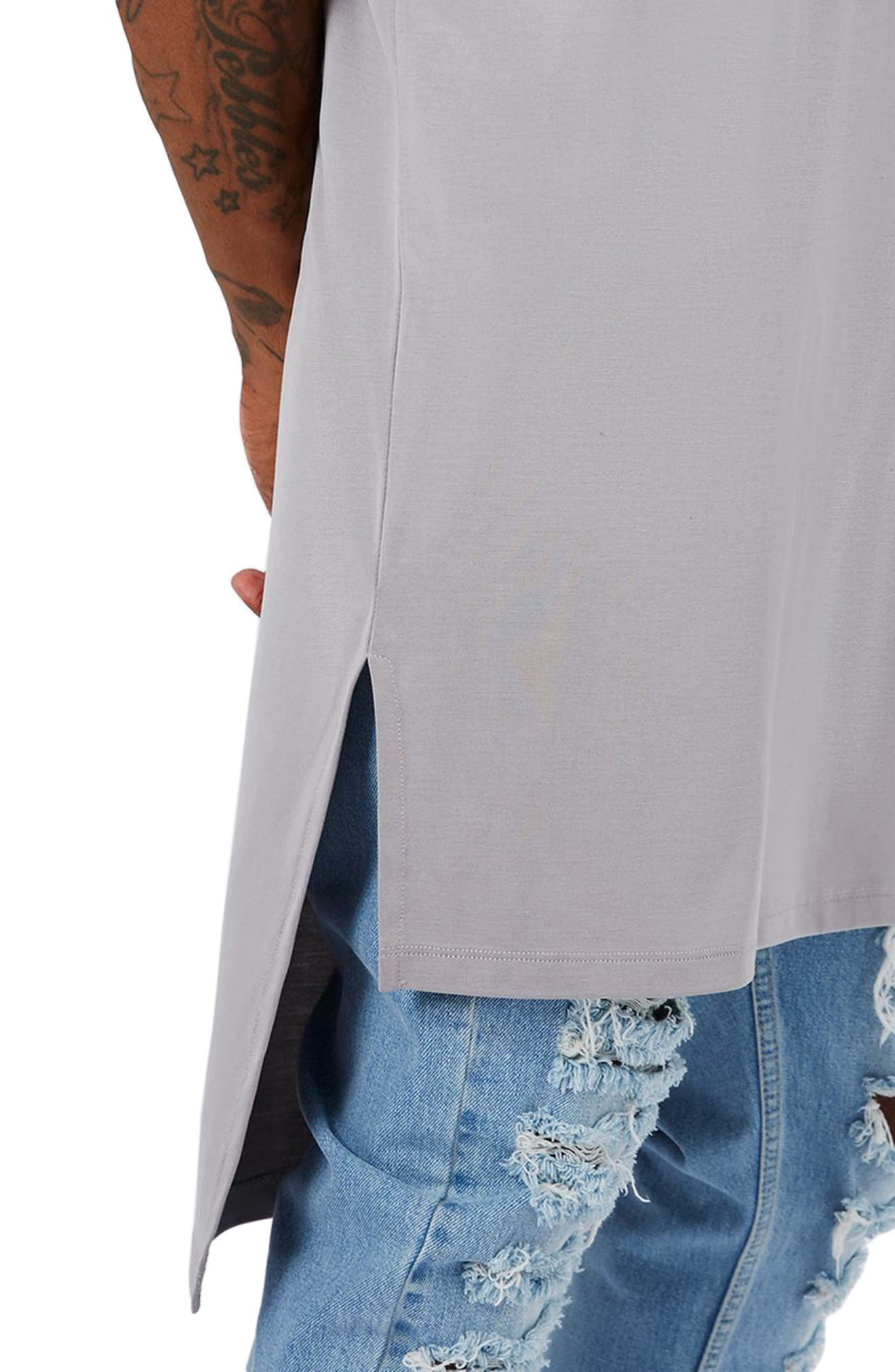 AAA Collection Longline T-Shirt,                             Alternate thumbnail 2, color,                             Grey
