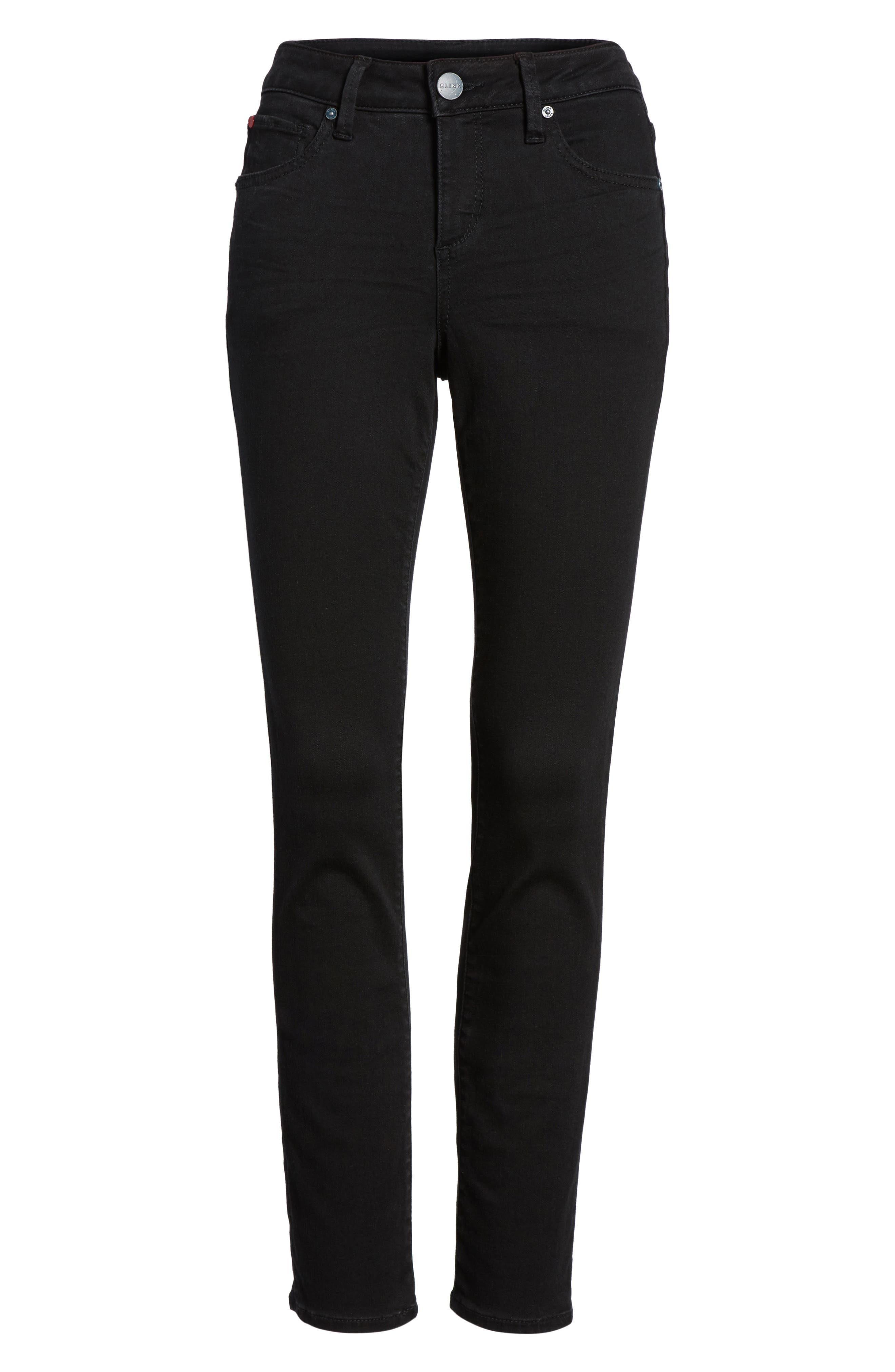 Slim Jeans,                             Alternate thumbnail 6, color,                             Black