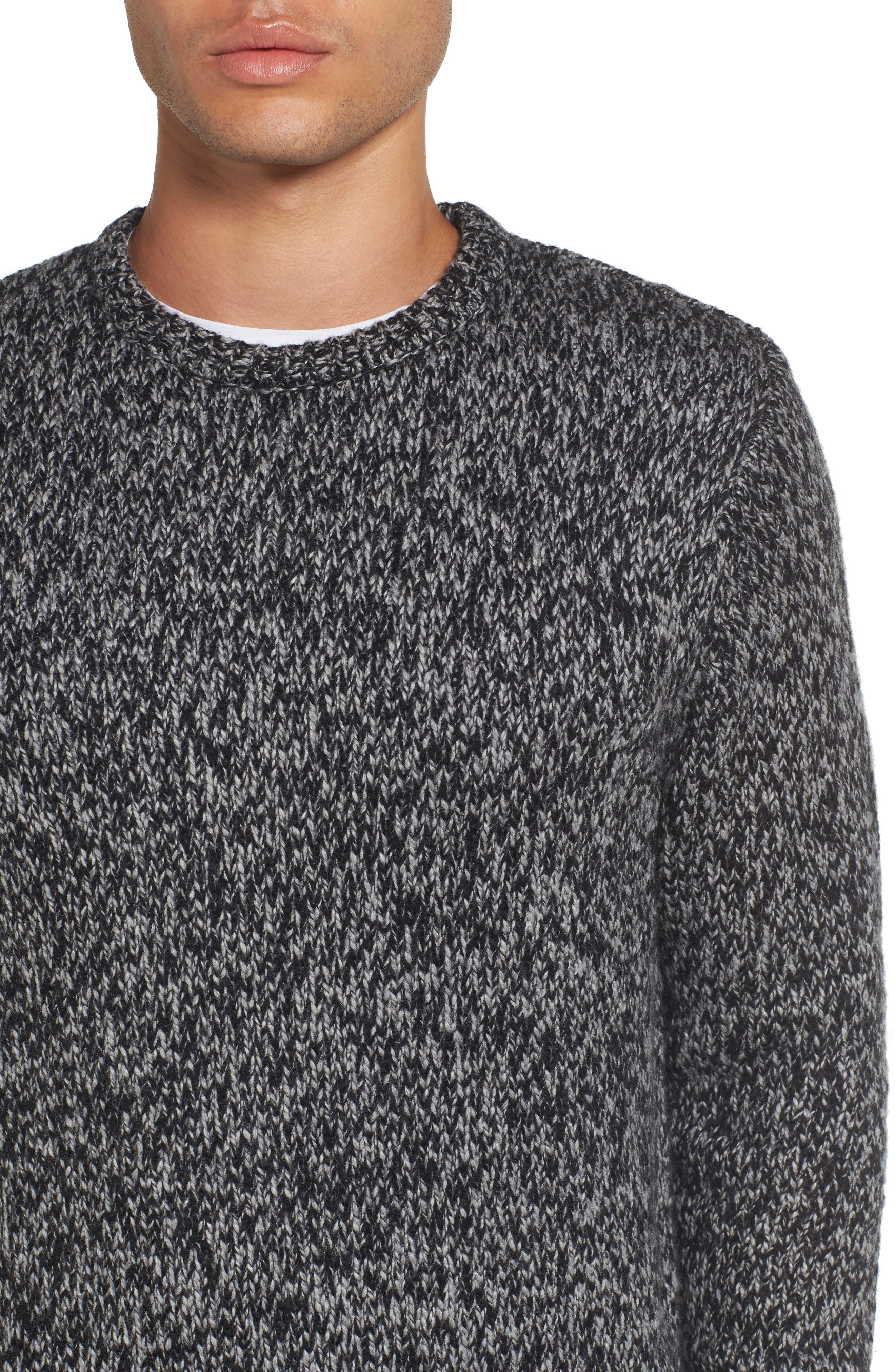 Alternate Image 4  - Nordstrom Men's Shop Marled Yarn Sweater