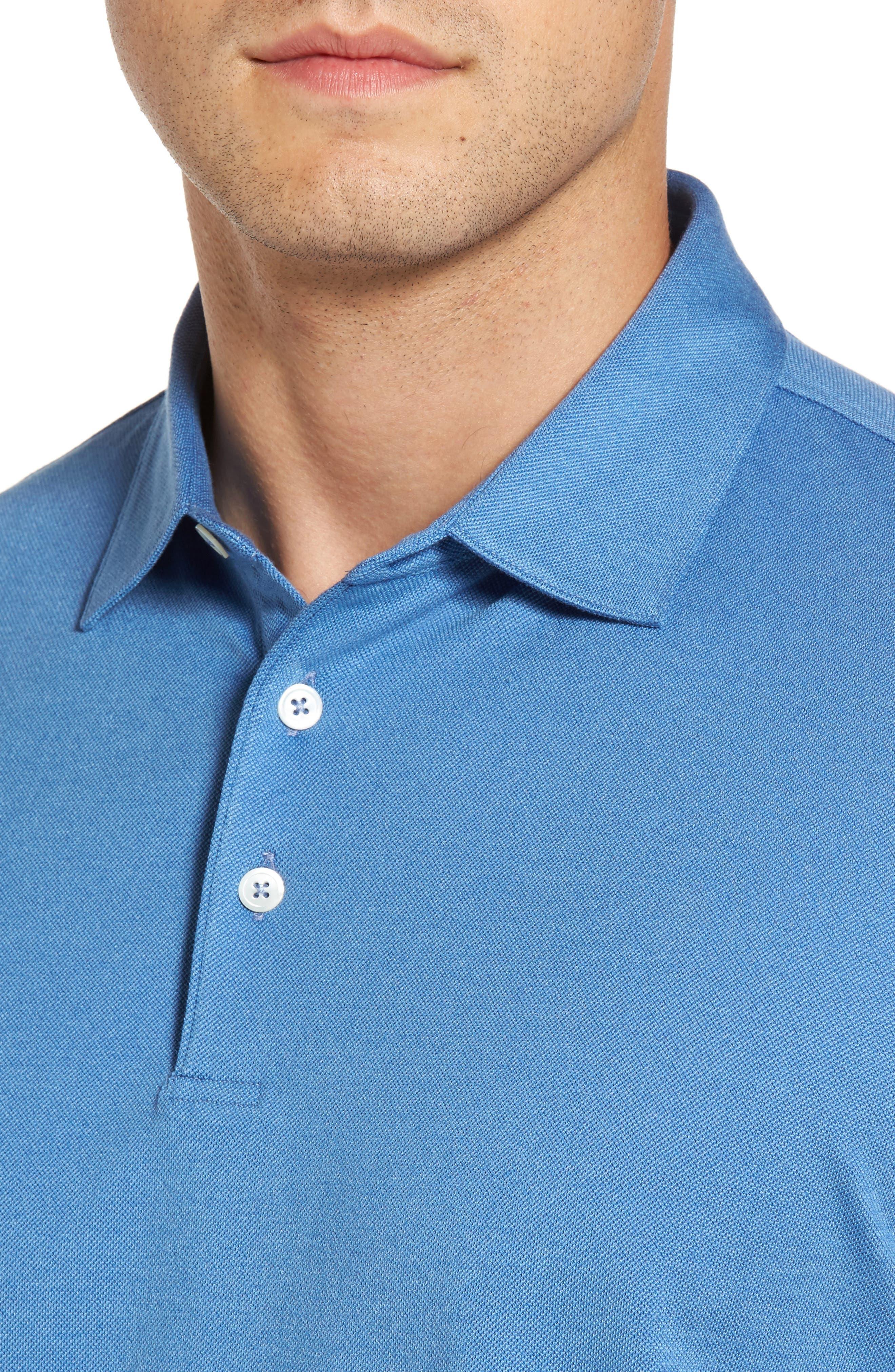 Perfect Piqué Polo,                             Alternate thumbnail 4, color,                             Avio Blue