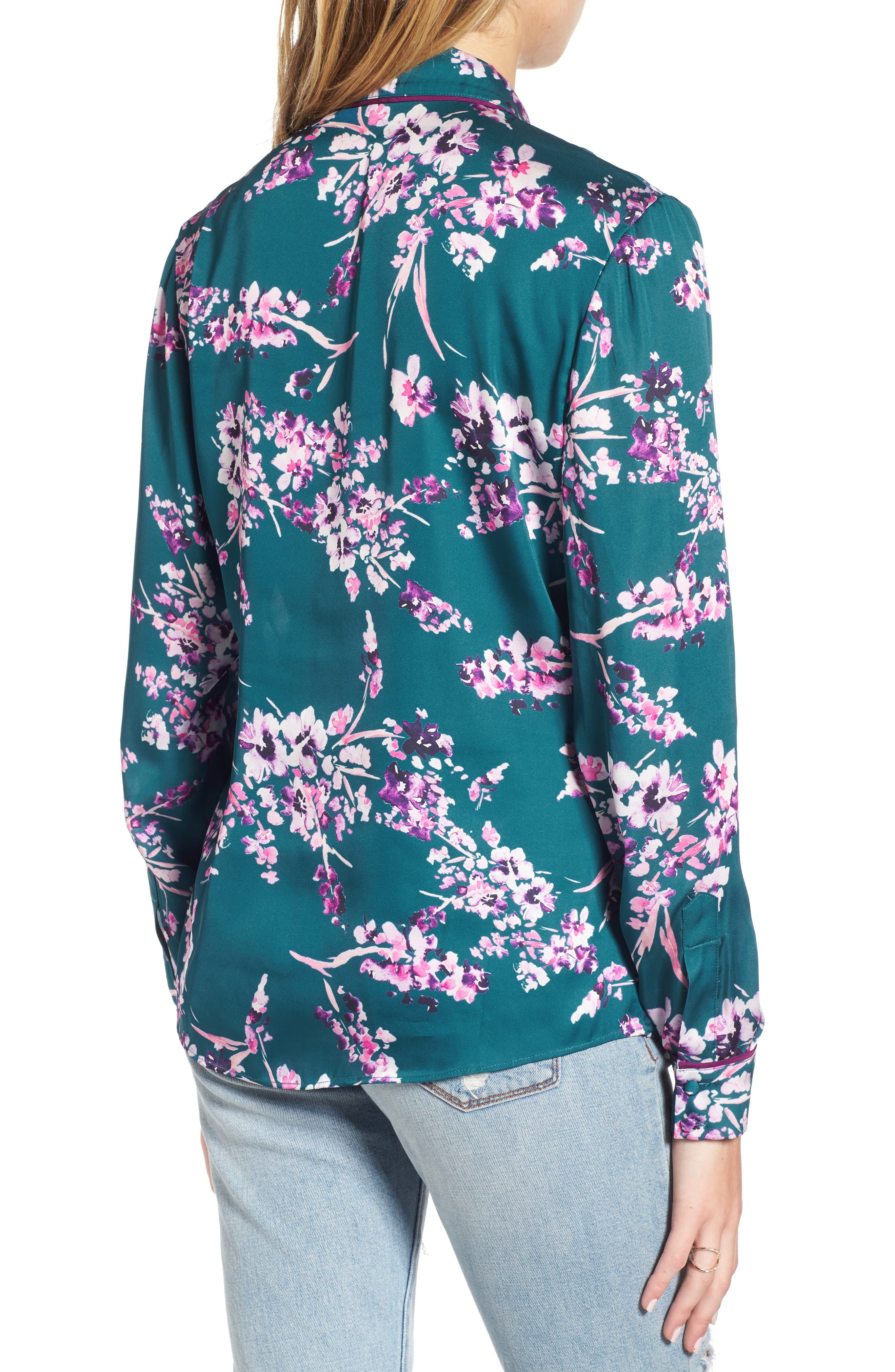 Bev Print Blouse,                             Alternate thumbnail 2, color,                             Moroccan Blossom