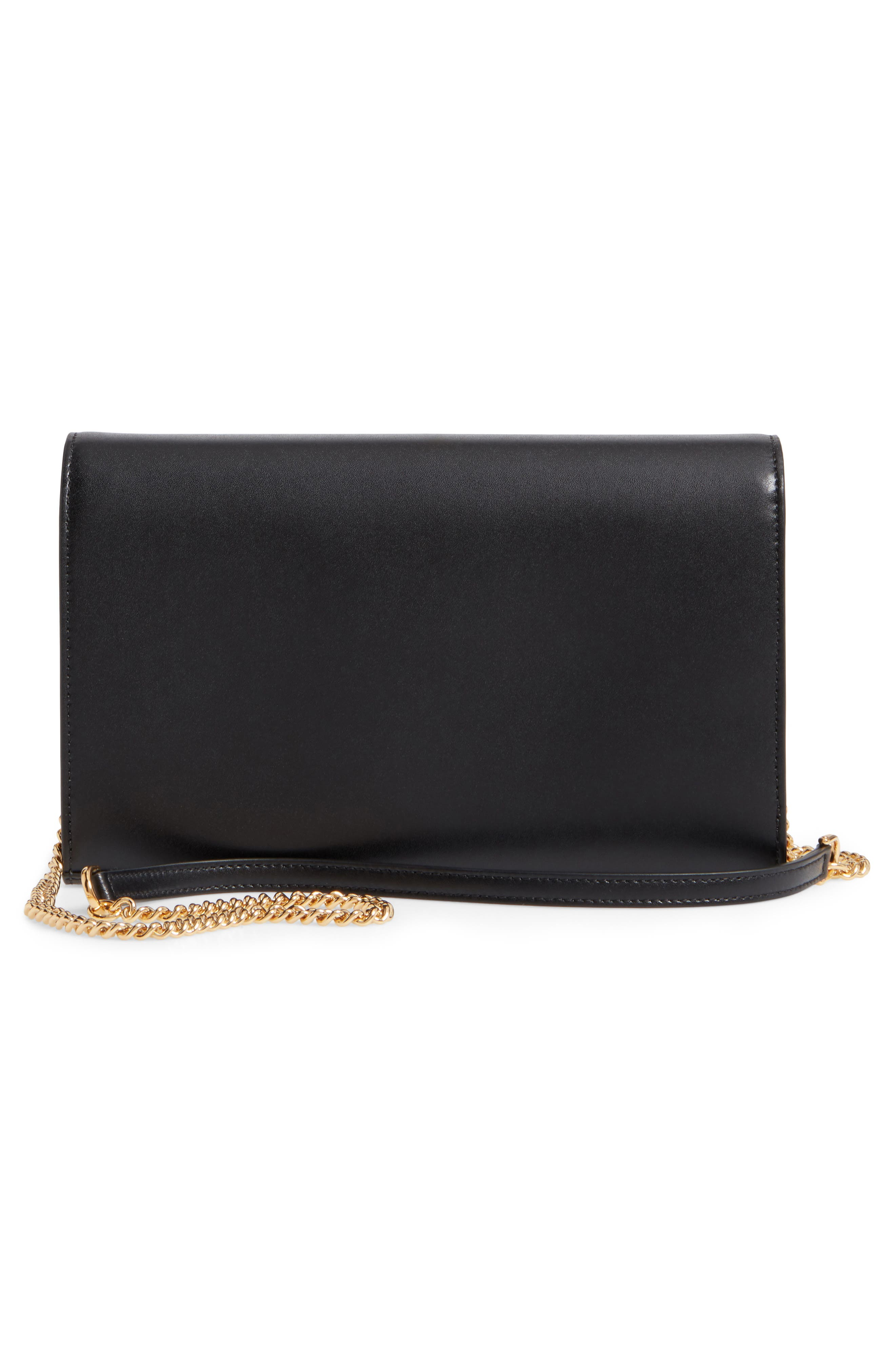 Alternate Image 4  - Fendi Liberty Logo Calfskin Leather Wallet on a Chain