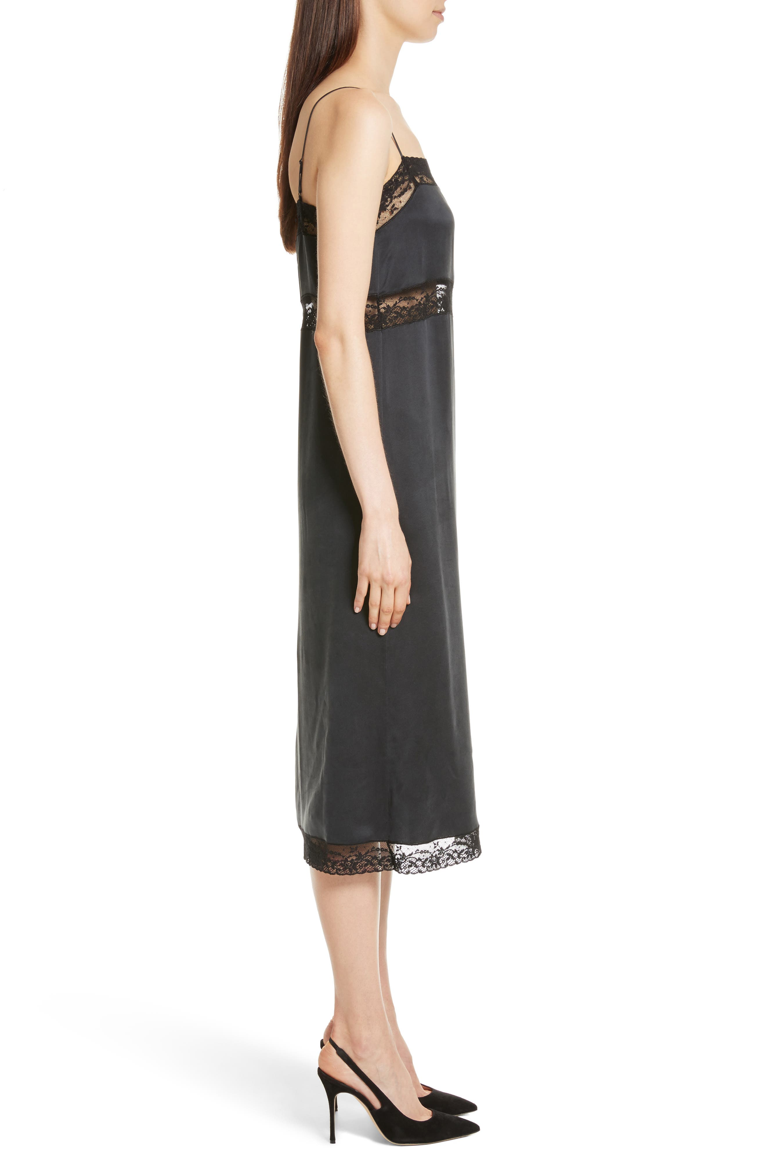 Alternate Image 3  - Robert Rodriguez Lace Trim Silk Slipdress