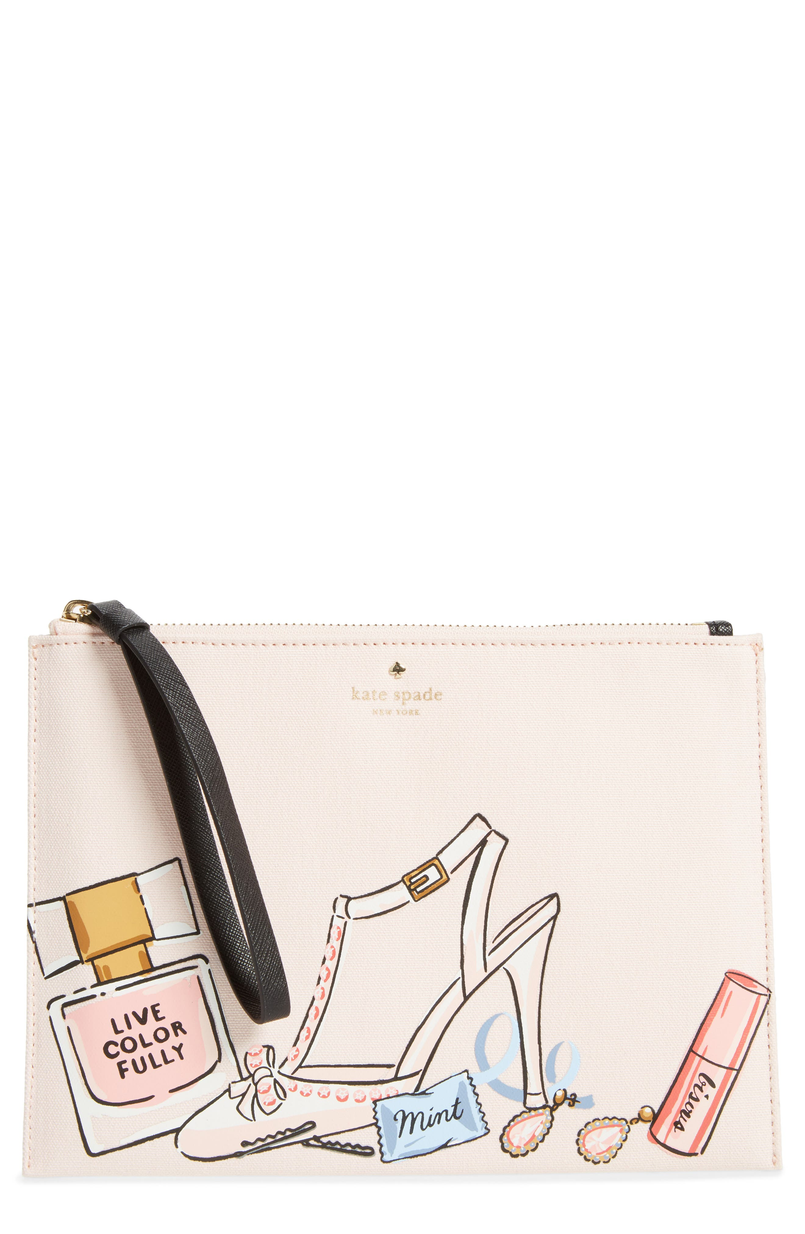 Alternate Image 1 Selected - kate spade new york wedding belles - this is the life medium bella pouch