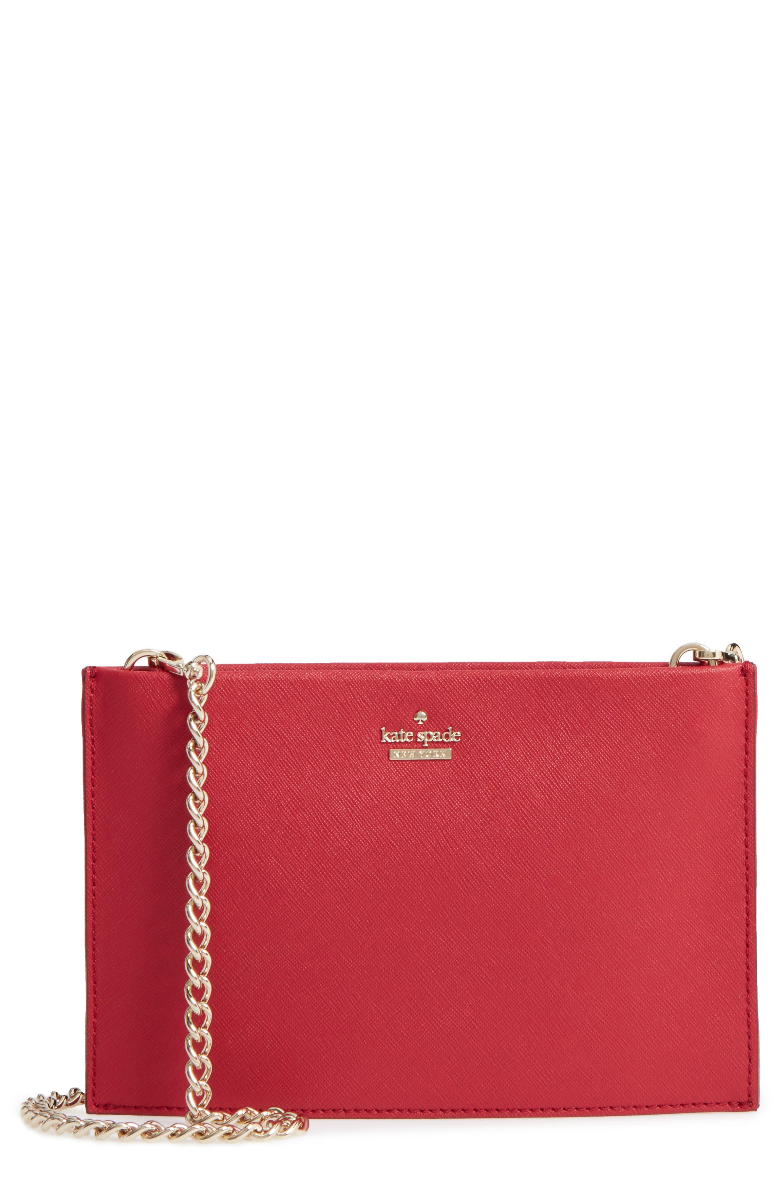 cameron street - mini sima leather shoulder bag,                         Main,                         color, Rosso