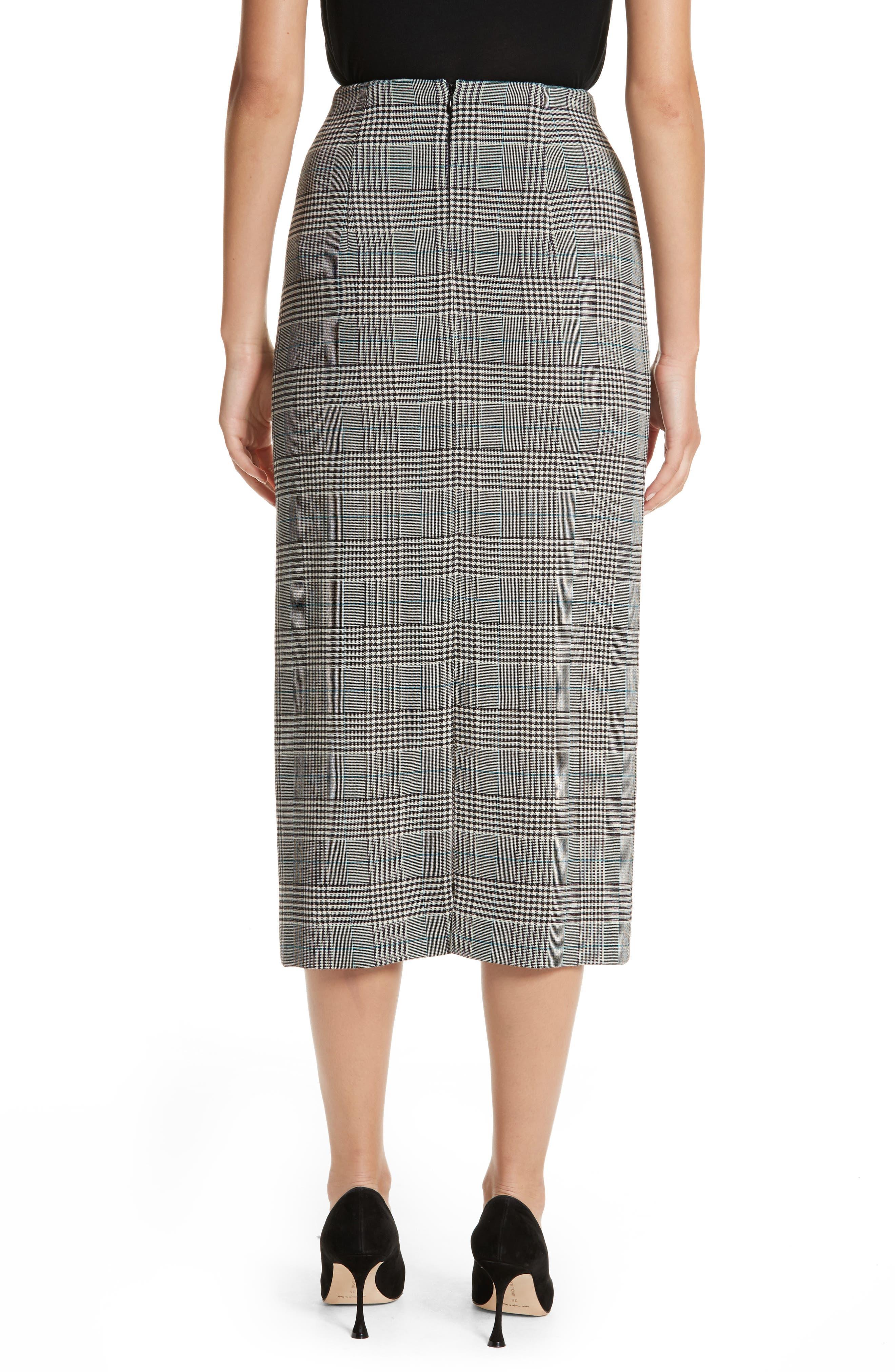 Alternate Image 2  - Victoria Beckham Prince of Wales High Waist Pencil Skirt