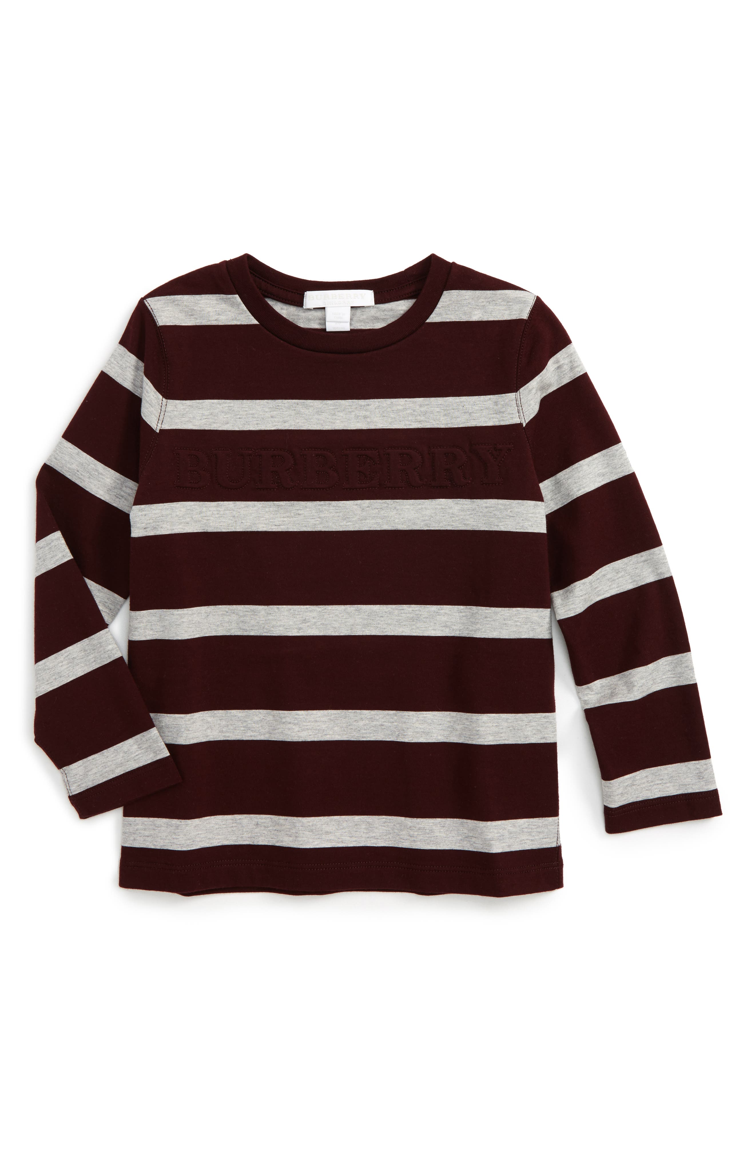 Main Image - Burberry Graham Stripe T-Shirt (Little Boys & Big Boys)