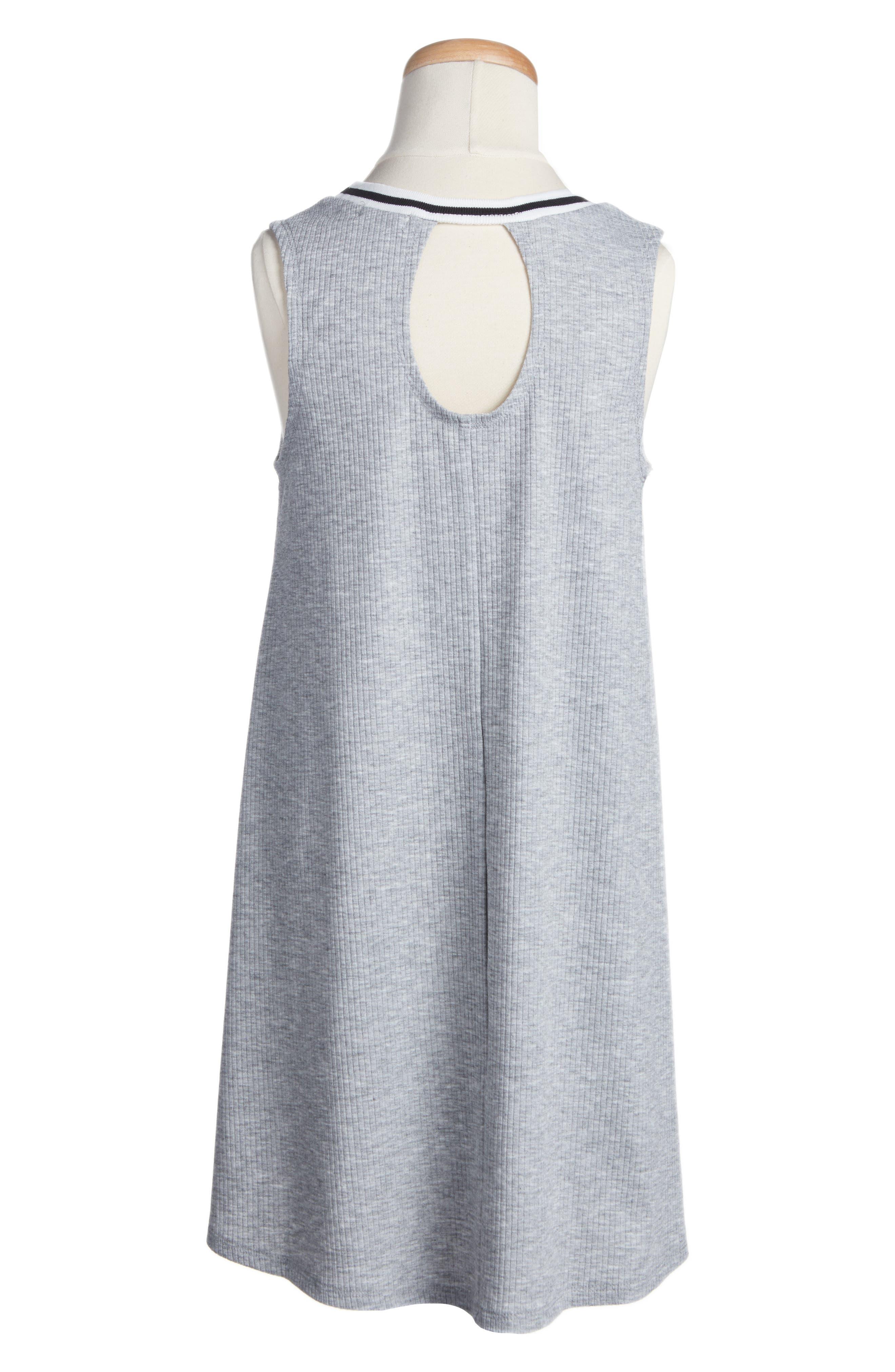Ringer Tank Dress,                             Alternate thumbnail 2, color,                             Heather Gray