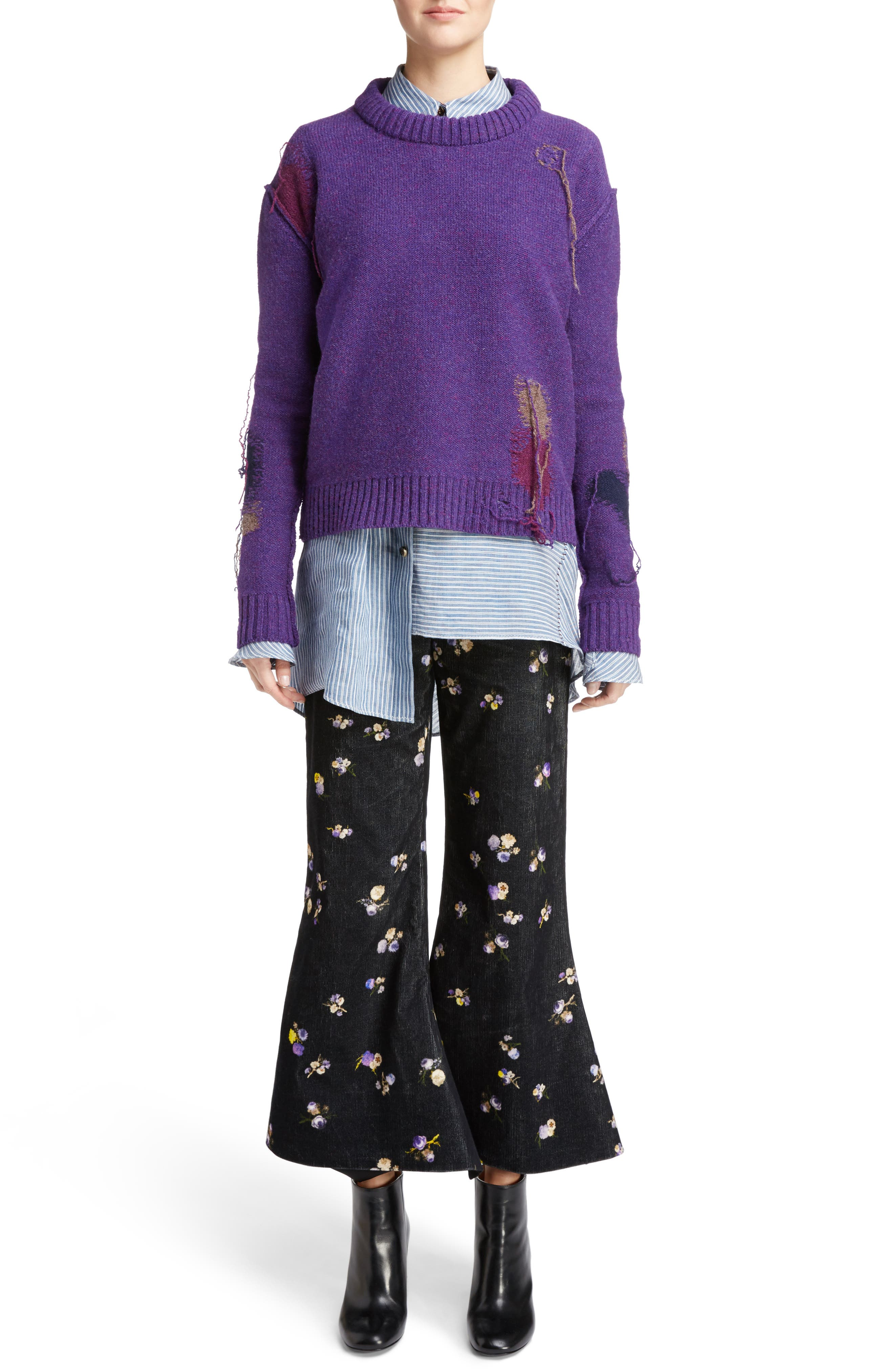 Alternate Image 6  - ACNE Studios Tyme Floral Corduroy Wide Leg Pants