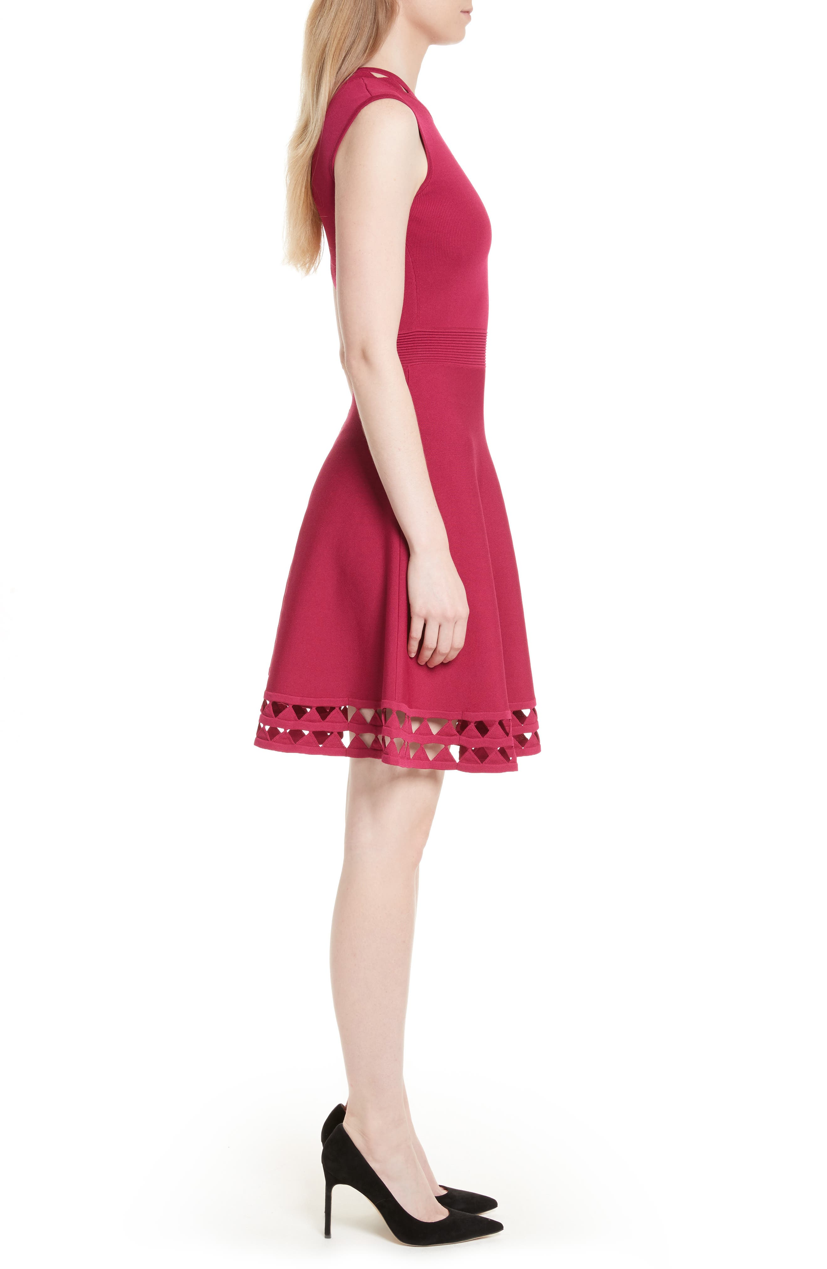 Alternate Image 3  - Ted Baker London Kathryn Cutwork Knit Skater Dress
