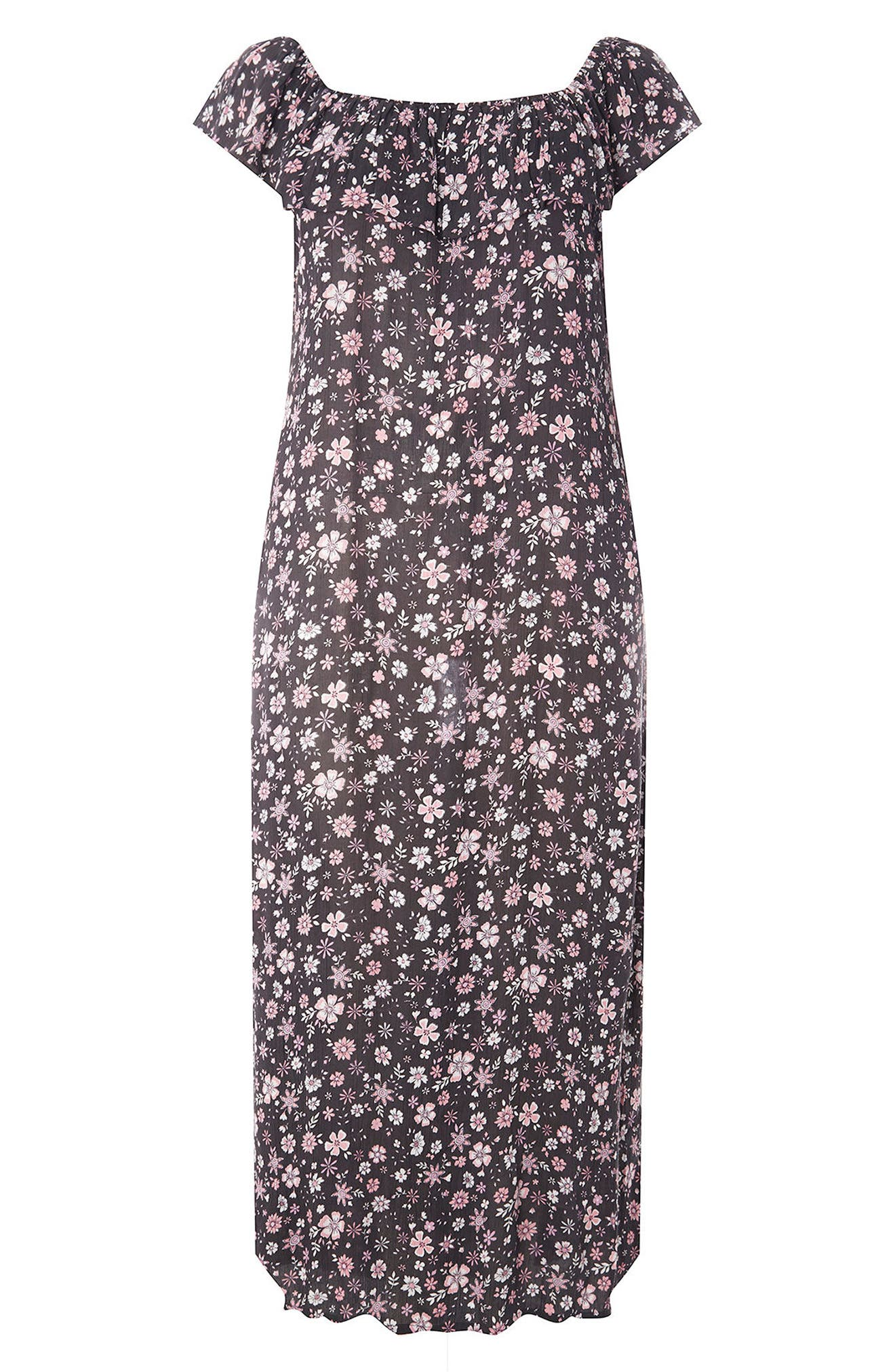 Evans Ditsy Floral Convertible Maxi Dress (Plus Size)