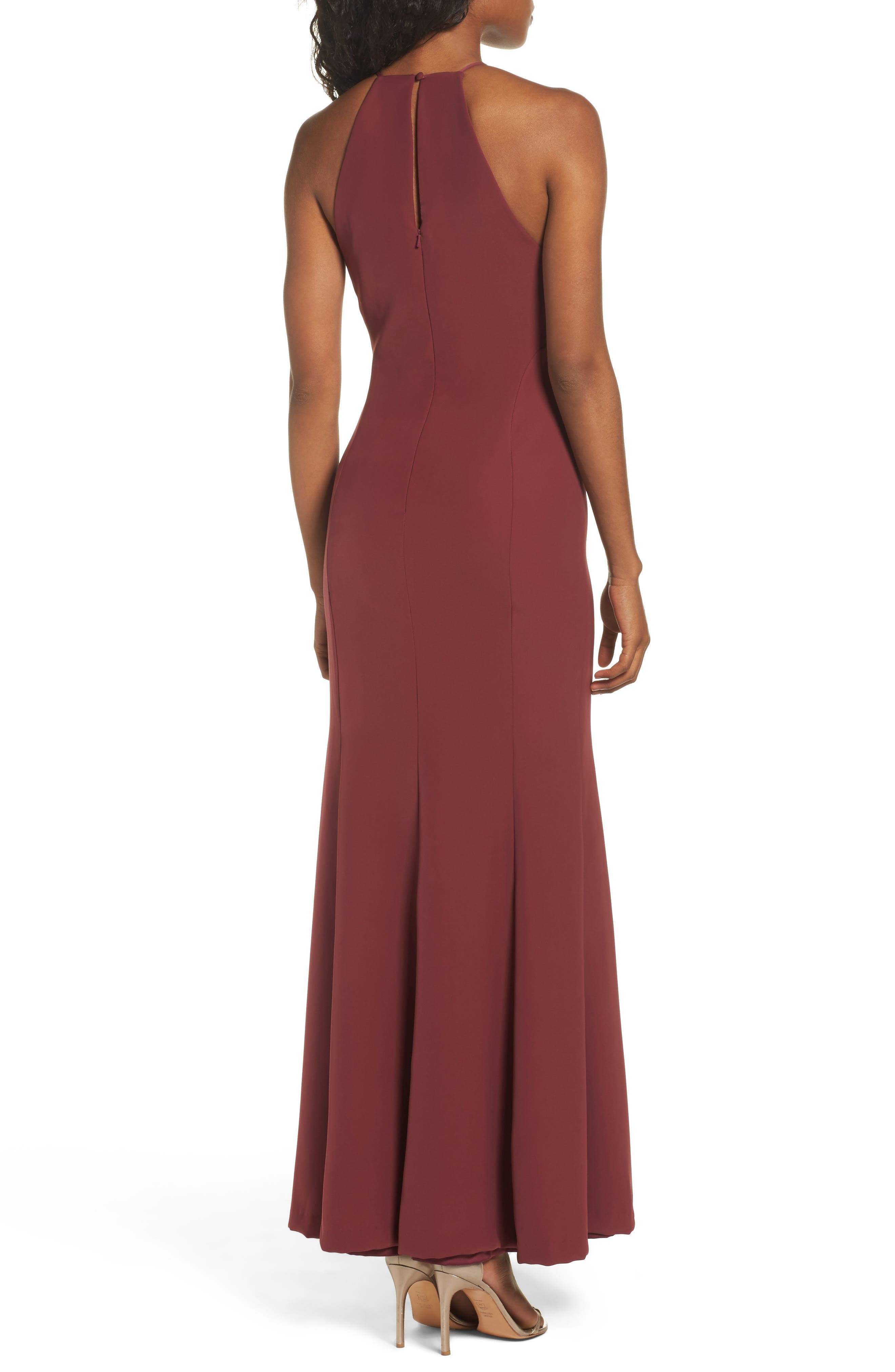 Mical Bellessa Stretch Crepe Gown,                             Alternate thumbnail 2, color,                             Luxardo