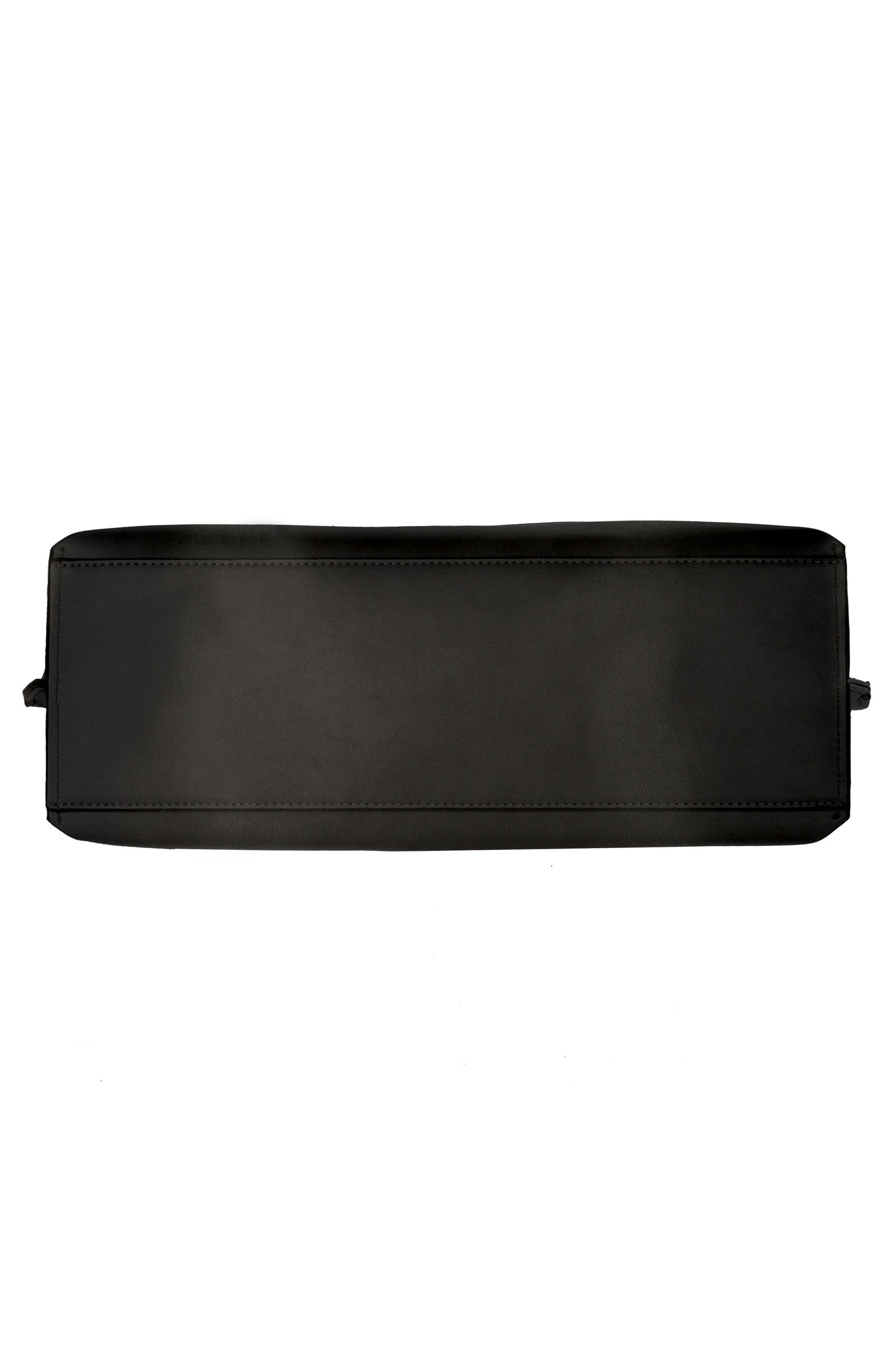Céline Dion Espressivo Faux Leather Tote,                             Alternate thumbnail 5, color,                             Black