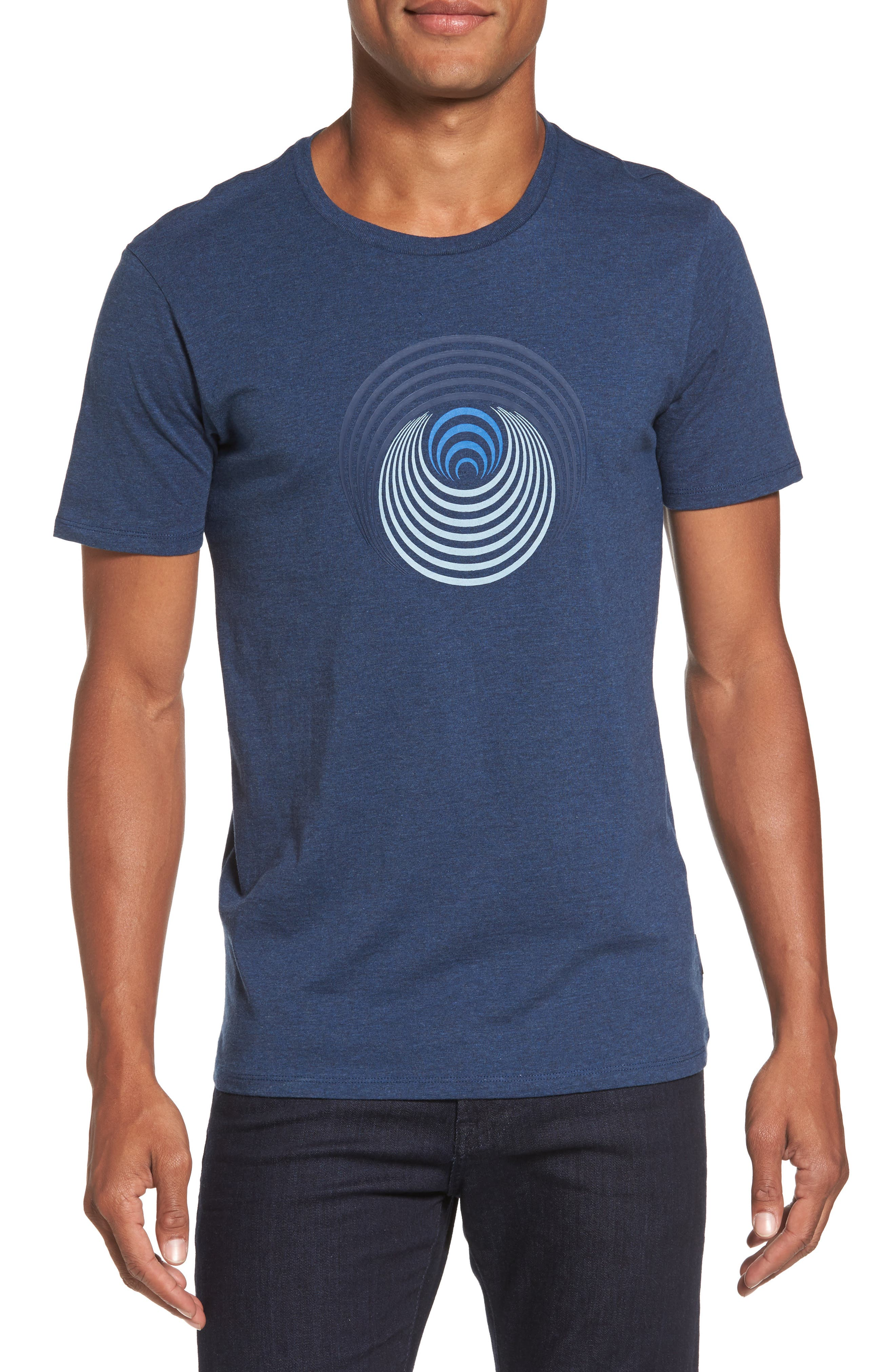 Optical Target T-Shirt,                         Main,                         color, Blue