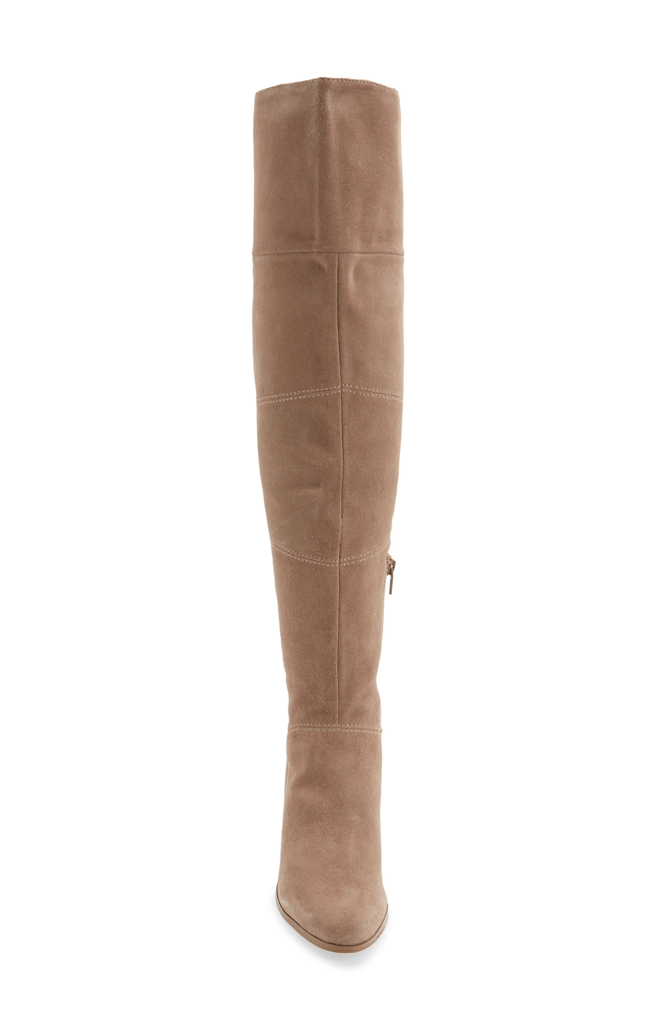 Melbourne Over the Knee Boot,                             Alternate thumbnail 4, color,                             Night Taupe Suede