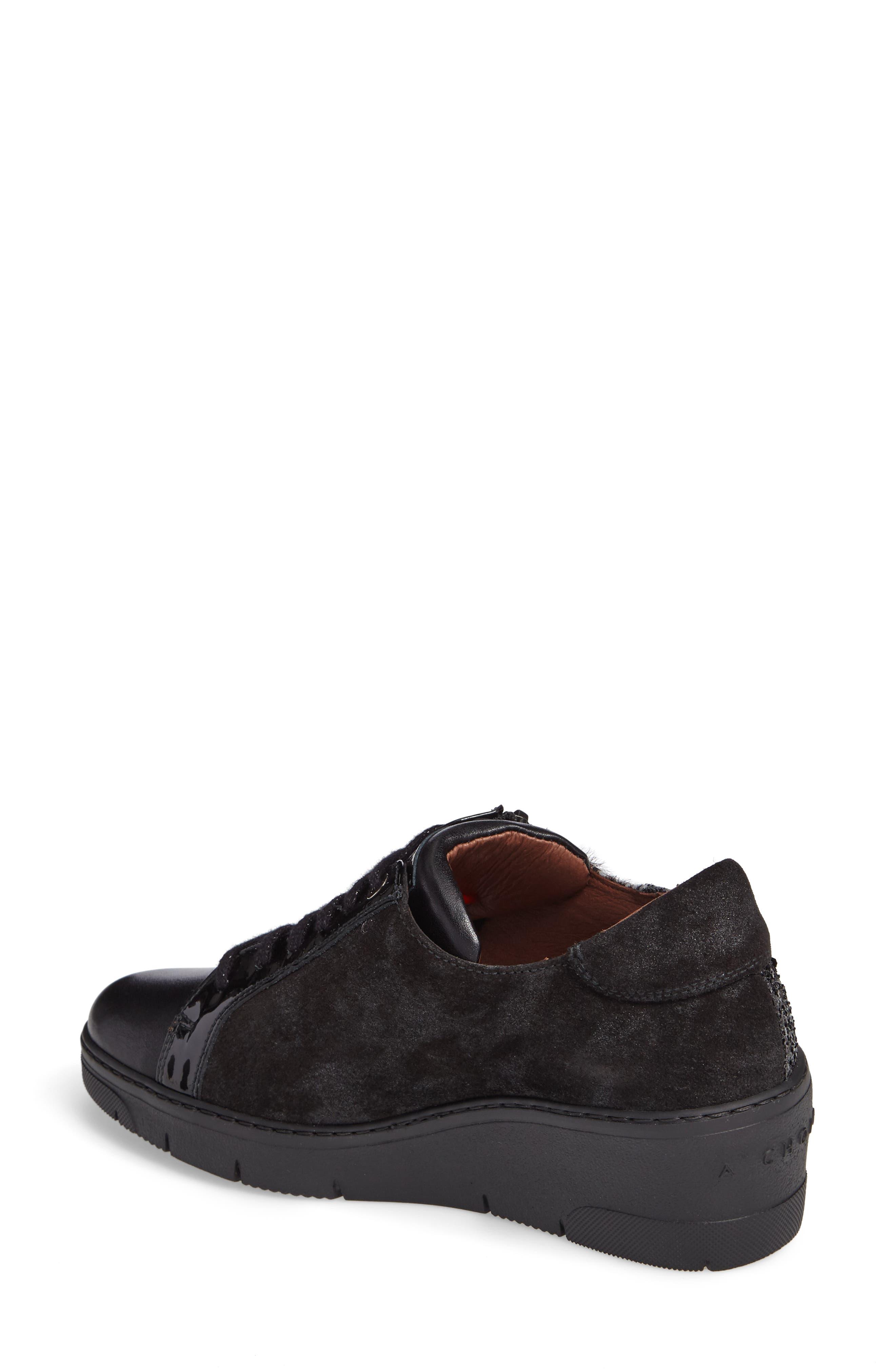 Sammi Sneaker,                             Alternate thumbnail 2, color,                             Black Leather