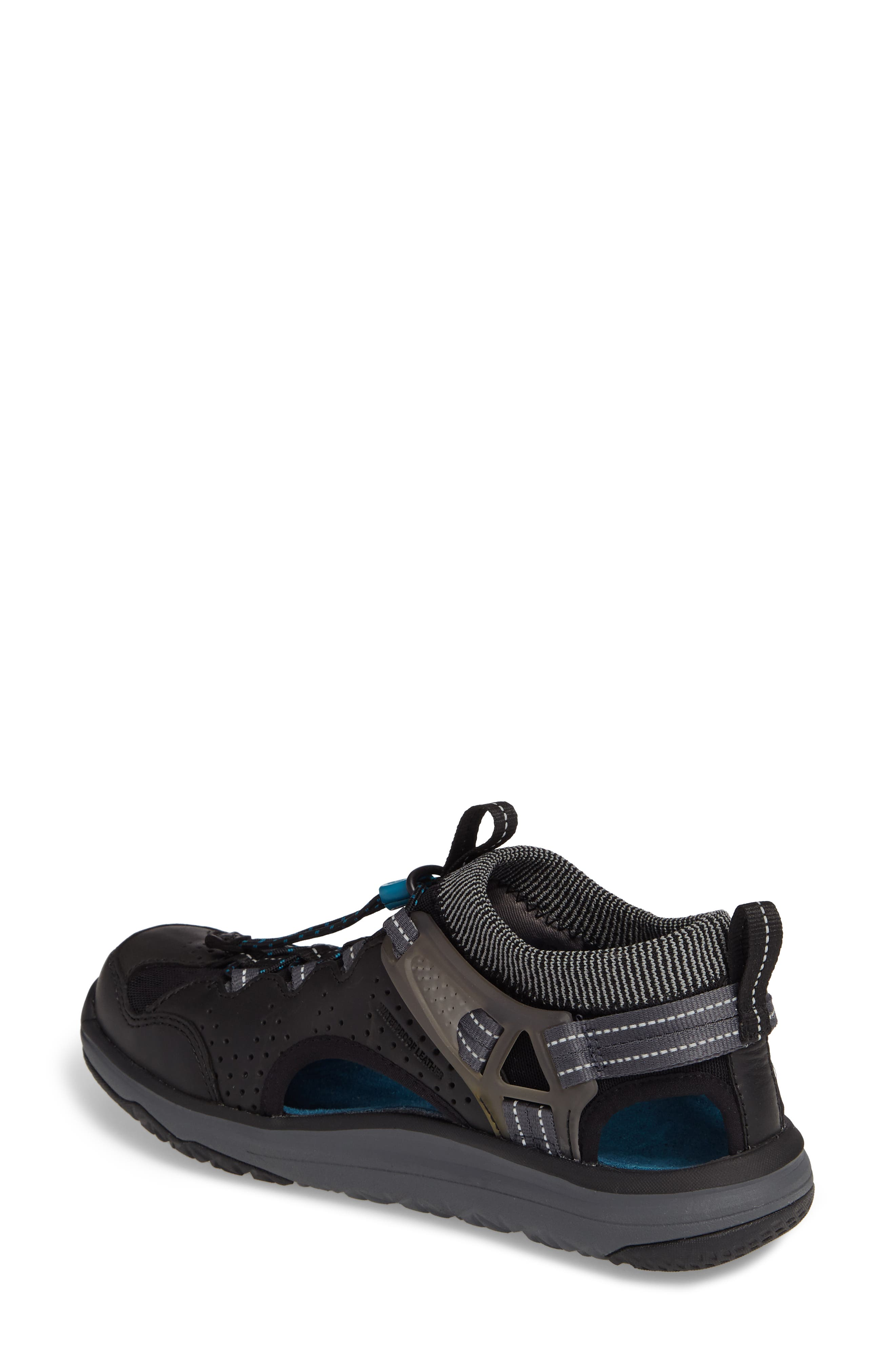 Terra Float Travel Sandal,                             Alternate thumbnail 2, color,                             Black Leather