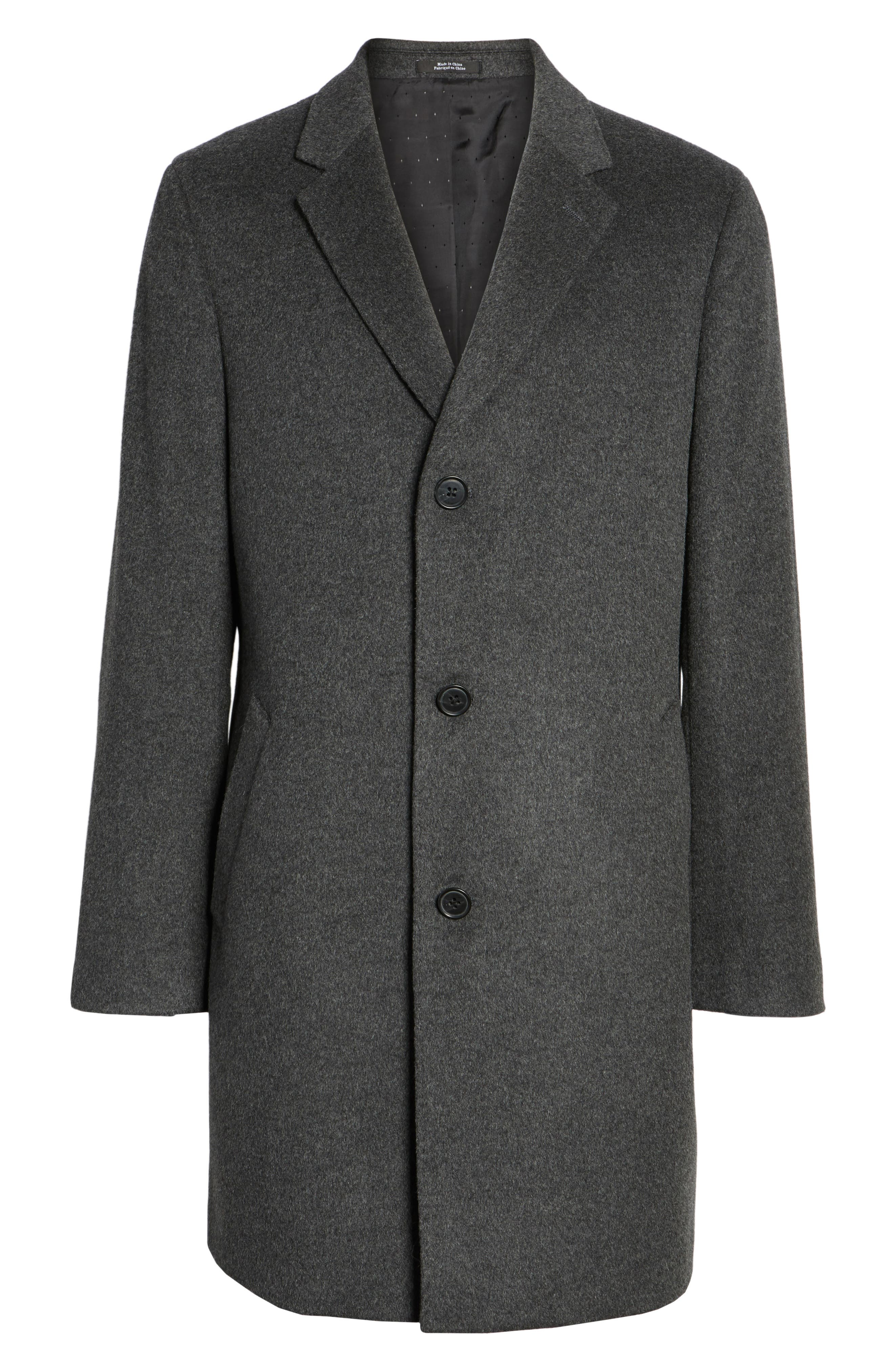 Alternate Image 6  - Nordstrom Men's Shop Mason Wool & Cashmere Overcoat
