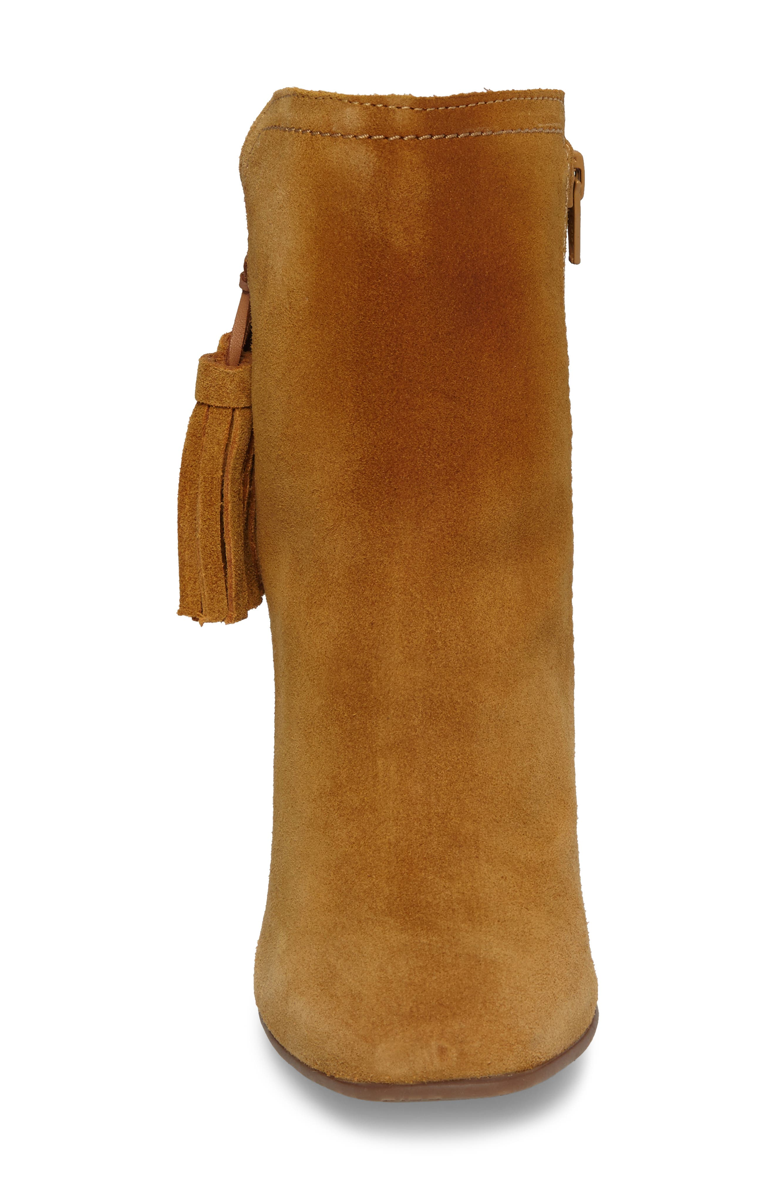 Daisee Billie Bootie,                             Alternate thumbnail 4, color,                             Camel Suede