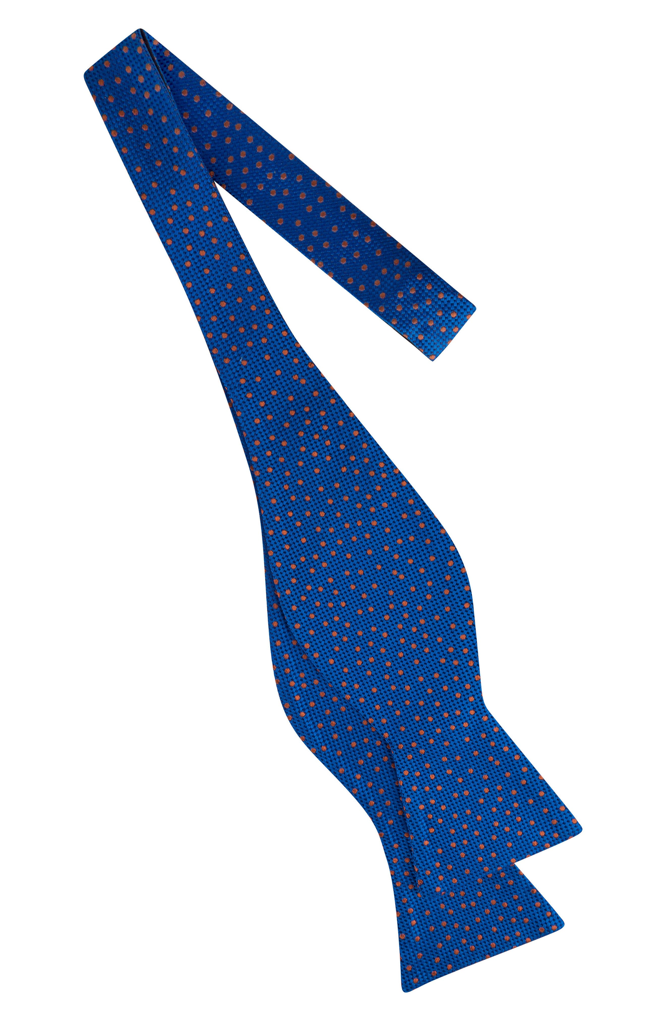 Jacquard Micro Dot Silk Bow Tie,                             Alternate thumbnail 2, color,                             Blue