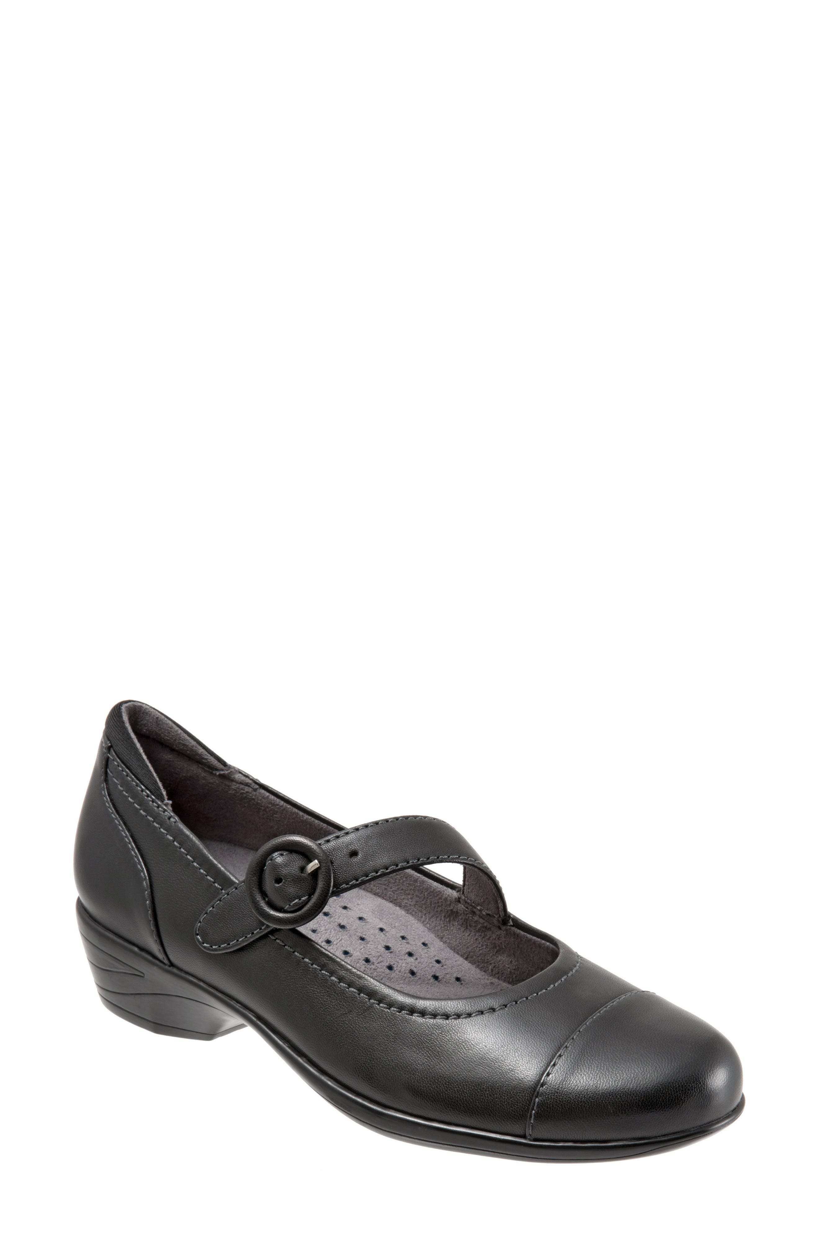 Chatsworth Mary Jane Pump,                         Main,                         color, Black Leather