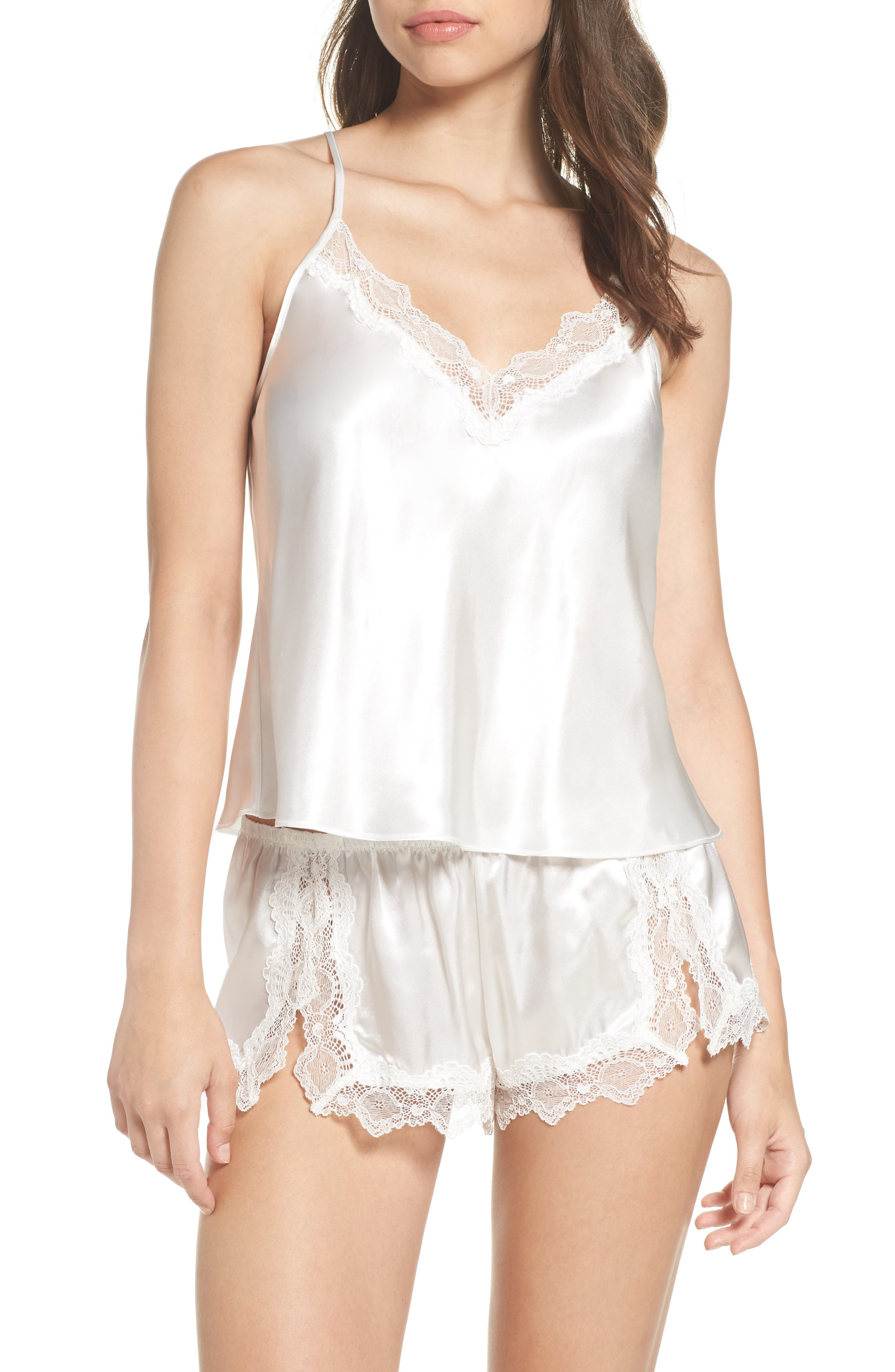 Main Image - In Bloom by Jonquil Satin Short Pajamas (Nordstrom Exclusive)