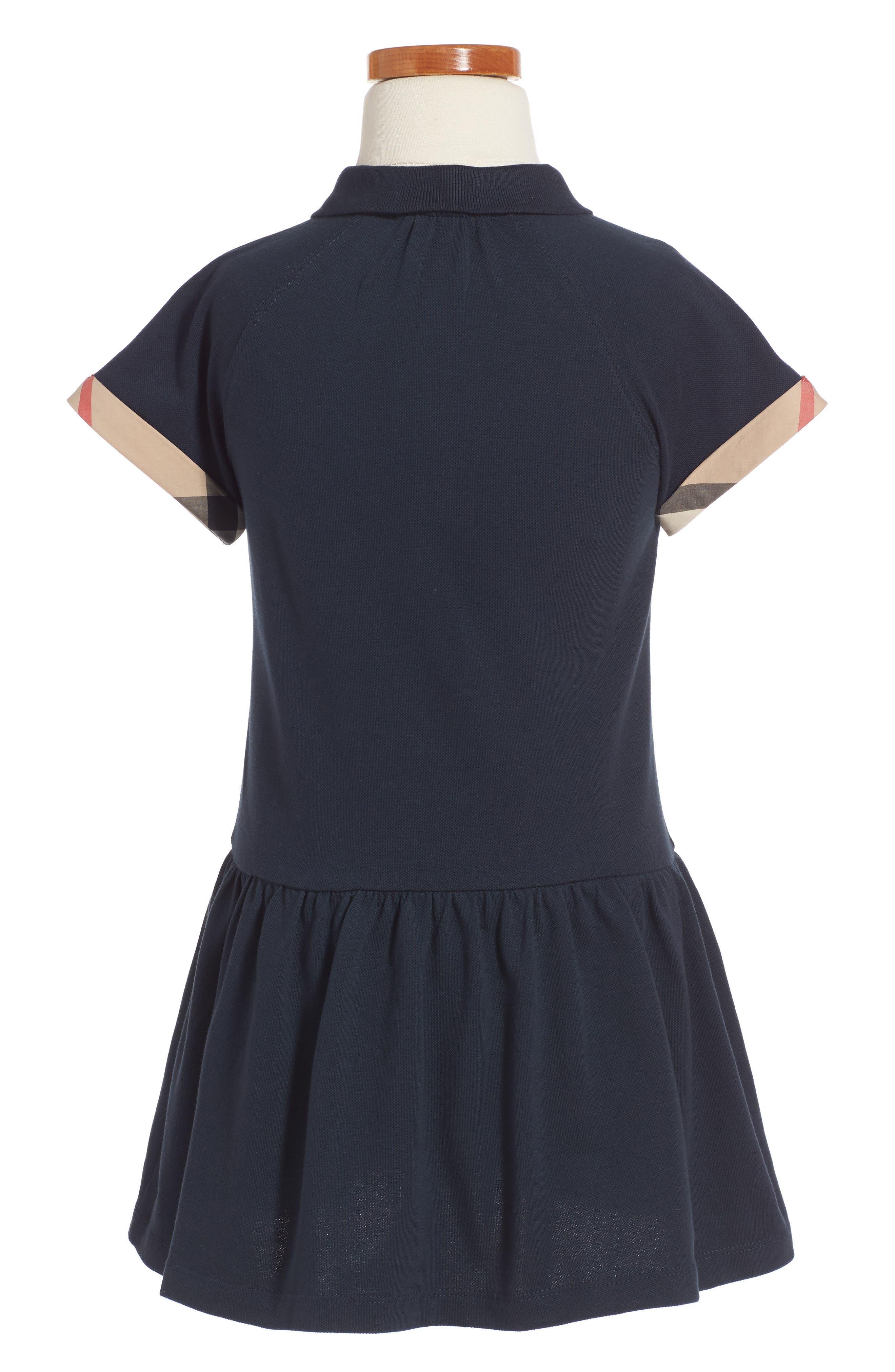 'Mini Cali' Polo Dress,                             Alternate thumbnail 2, color,                             Navy