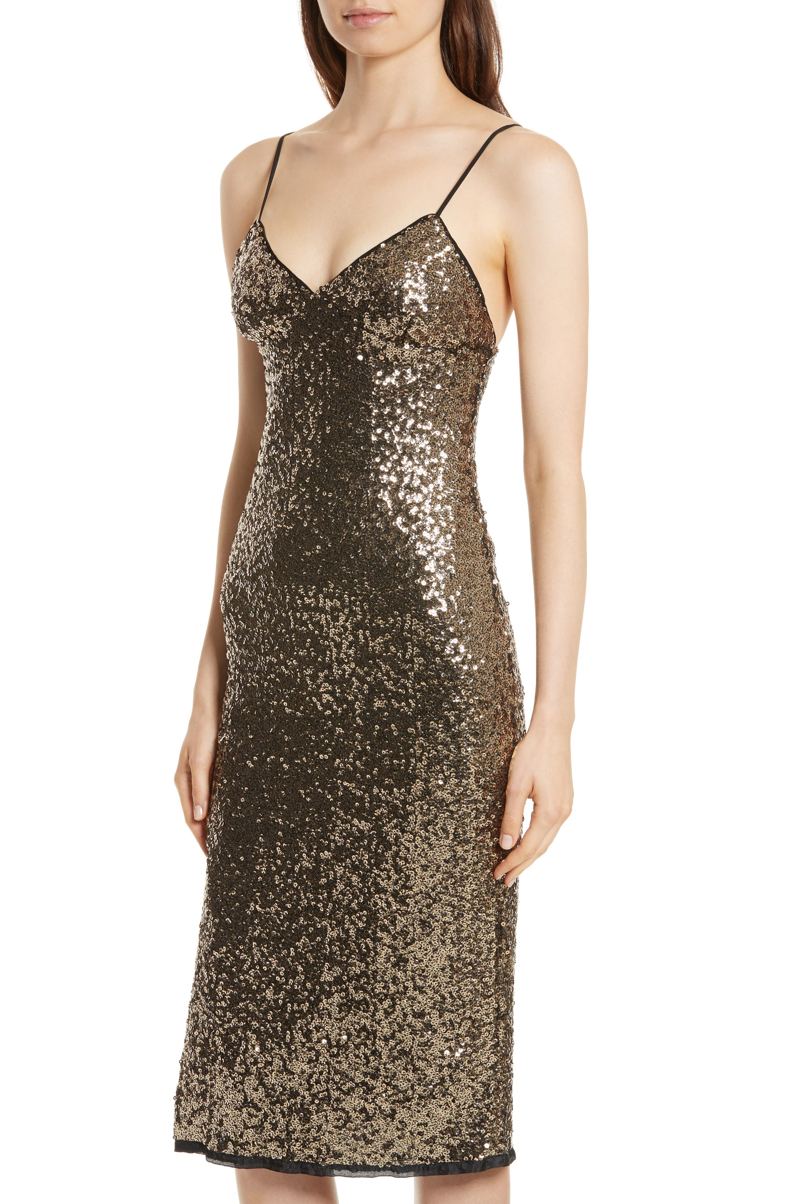 Alternate Image 4  - Milly Alexis Sequin Camisole Dress