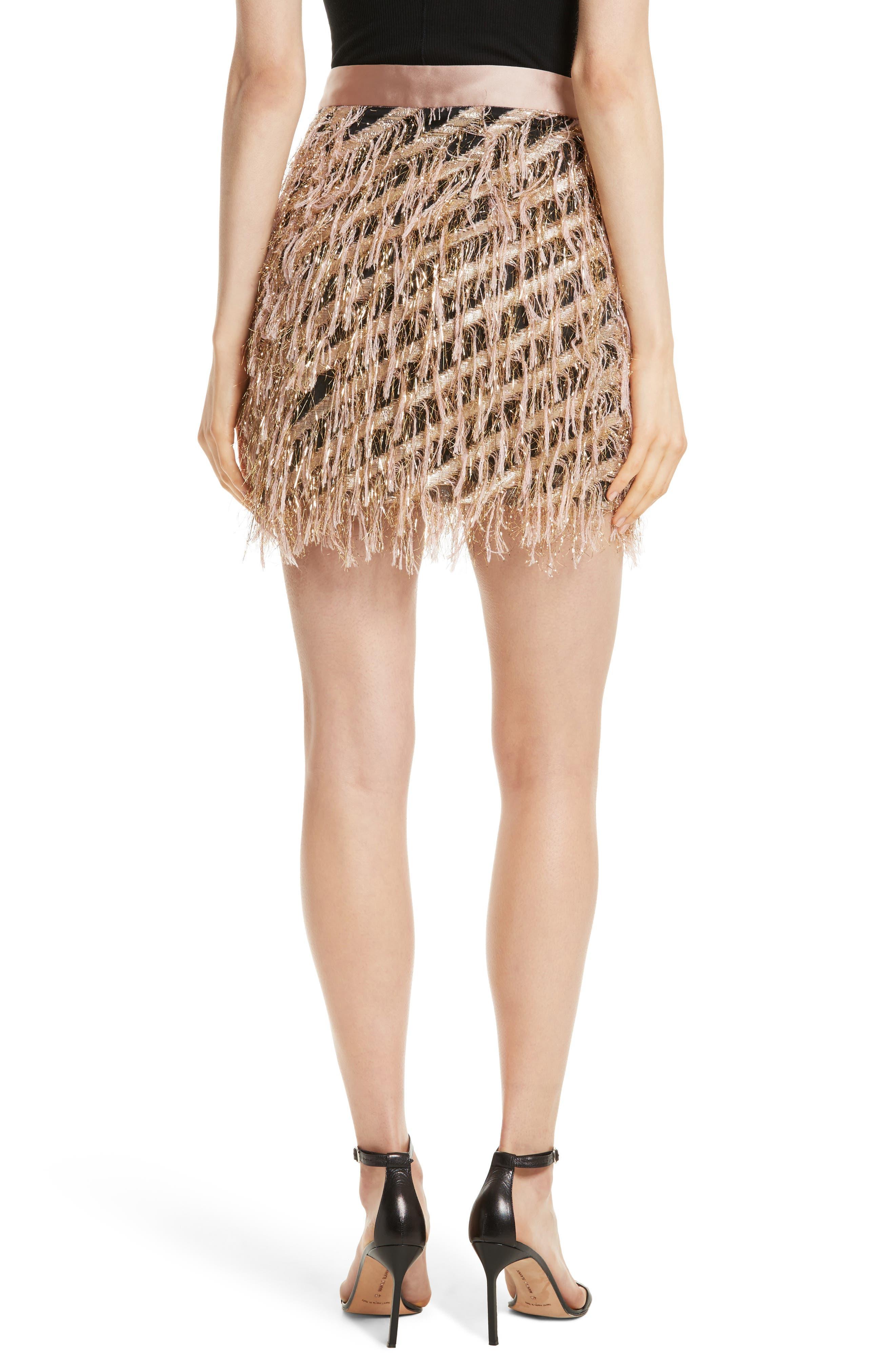 Fil Coupé Diagonal Stripe Miniskirt,                             Alternate thumbnail 2, color,                             Blush