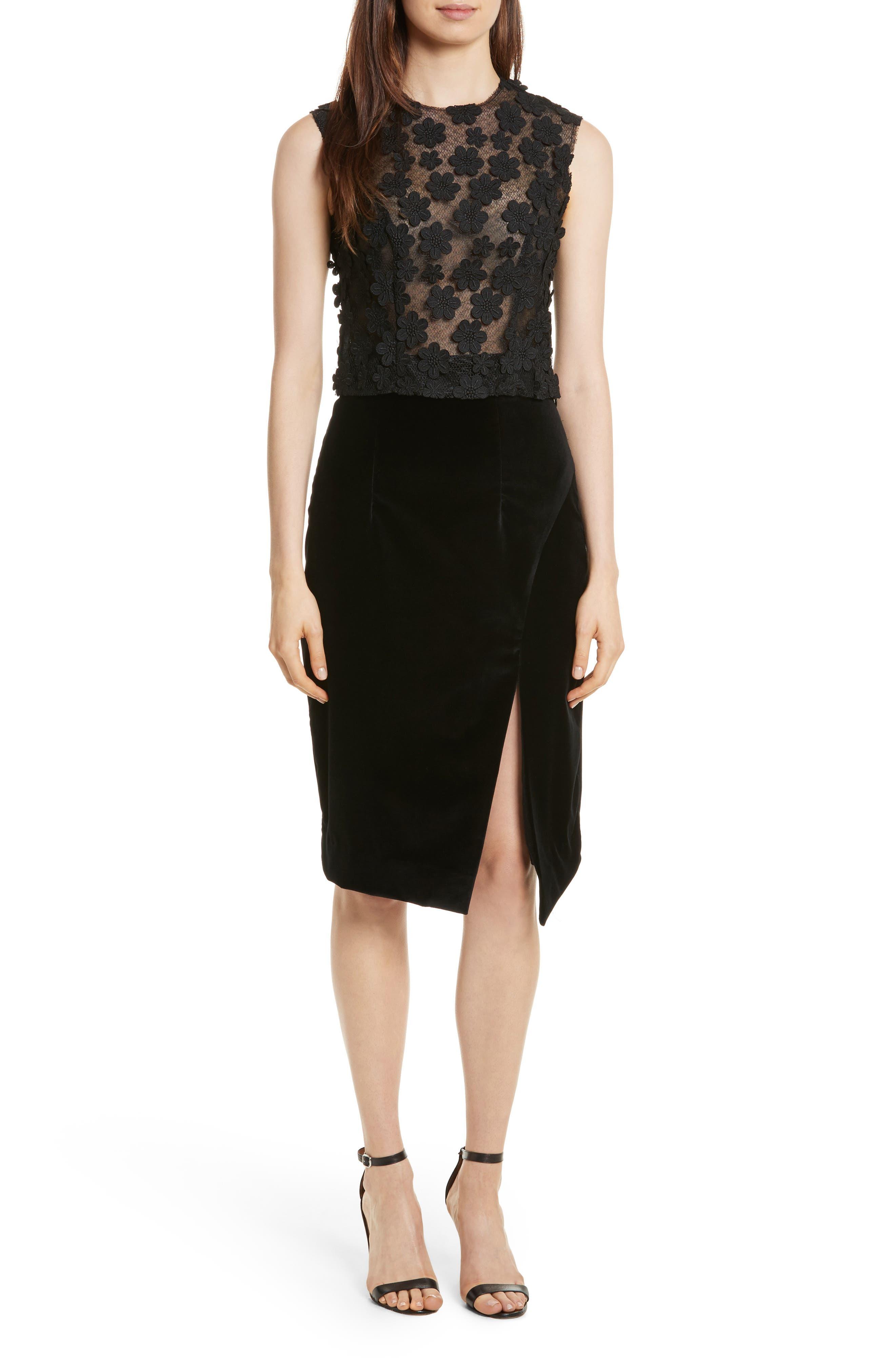 Alternate Image 7  - Milly Robin Velveteen Faux Wrap Skirt