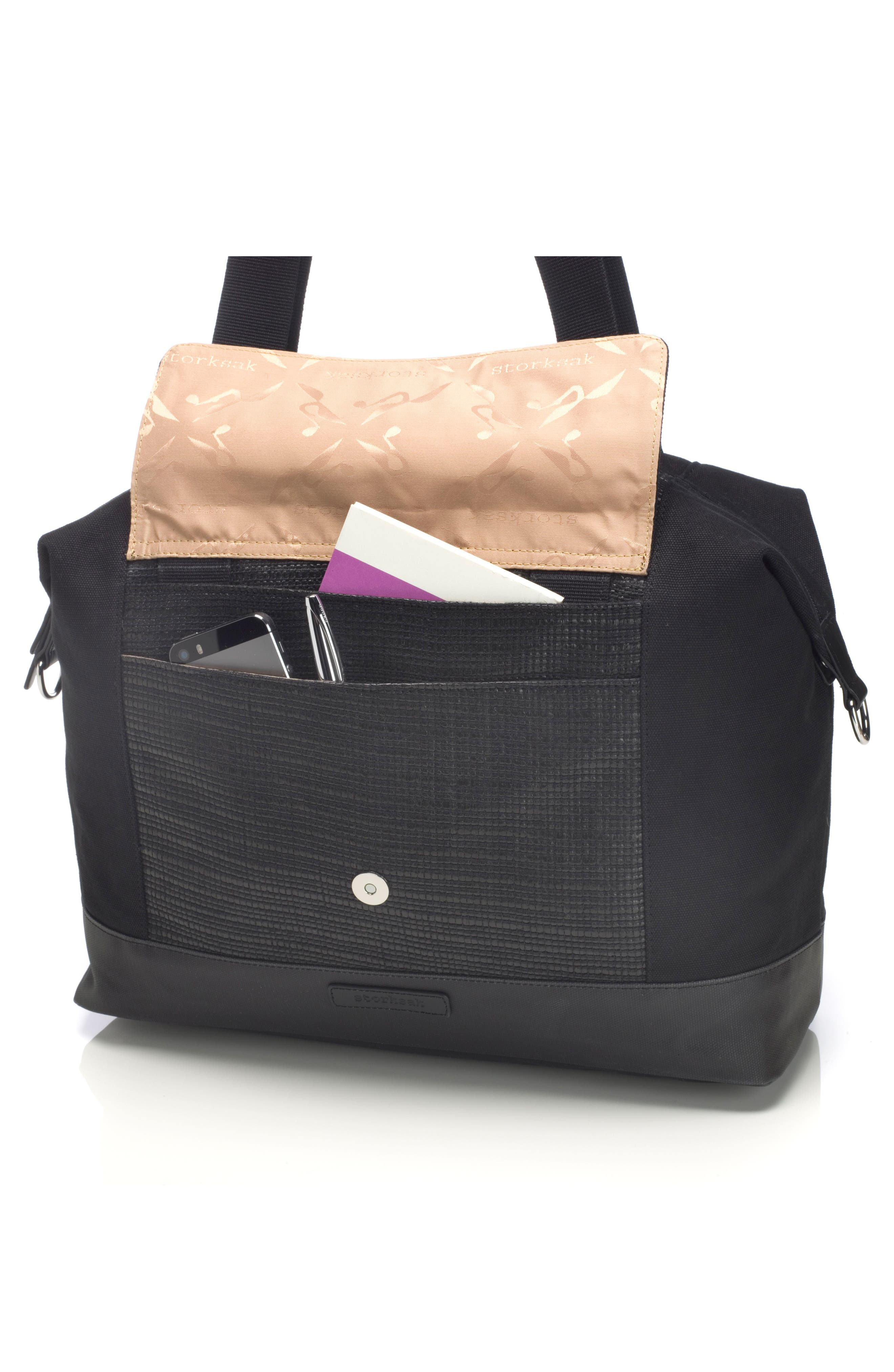 Jude Convertible Diaper Bag,                             Alternate thumbnail 10, color,                             Black