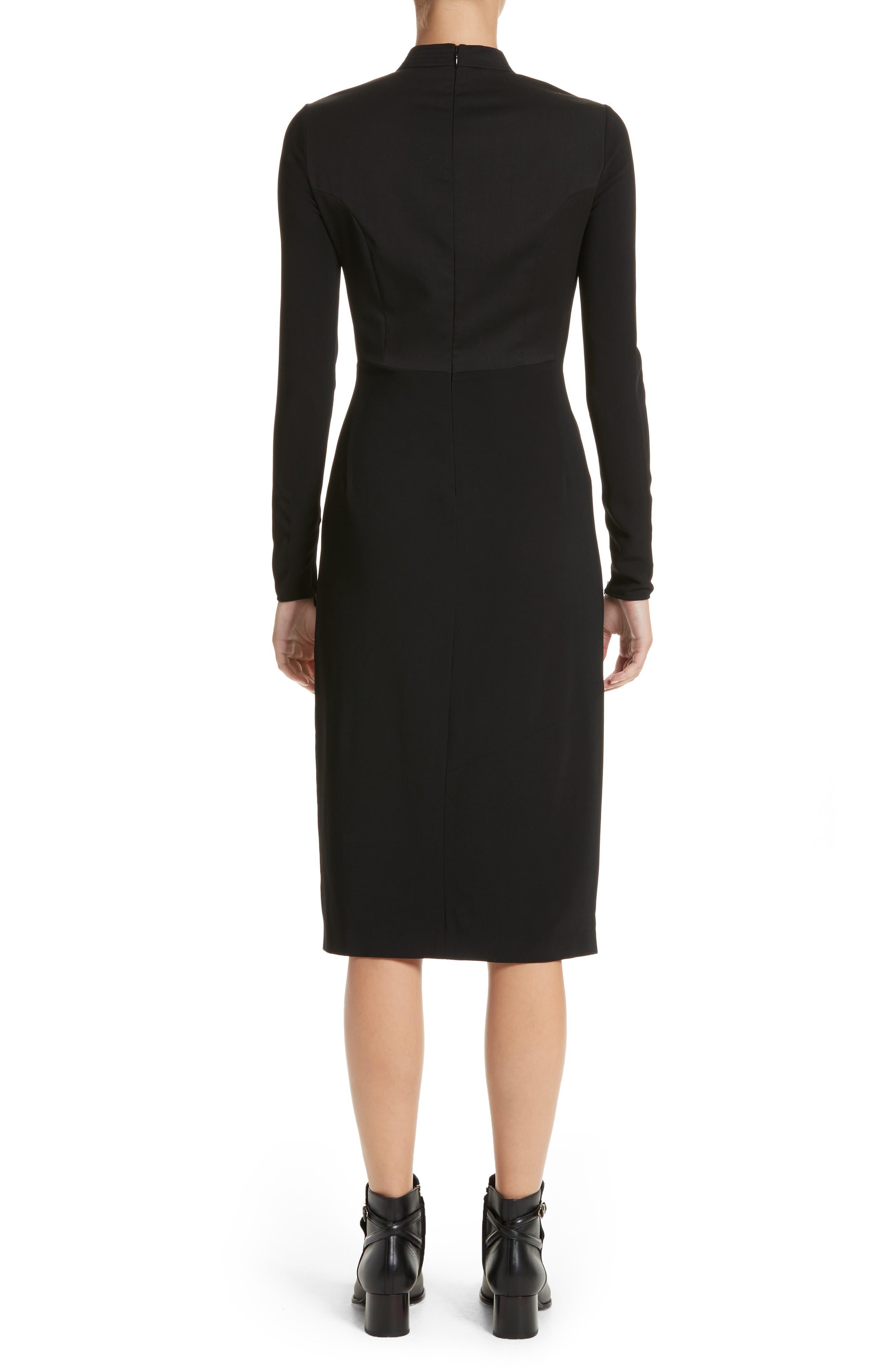 Miriam Sheath Dress,                             Alternate thumbnail 2, color,                             Black