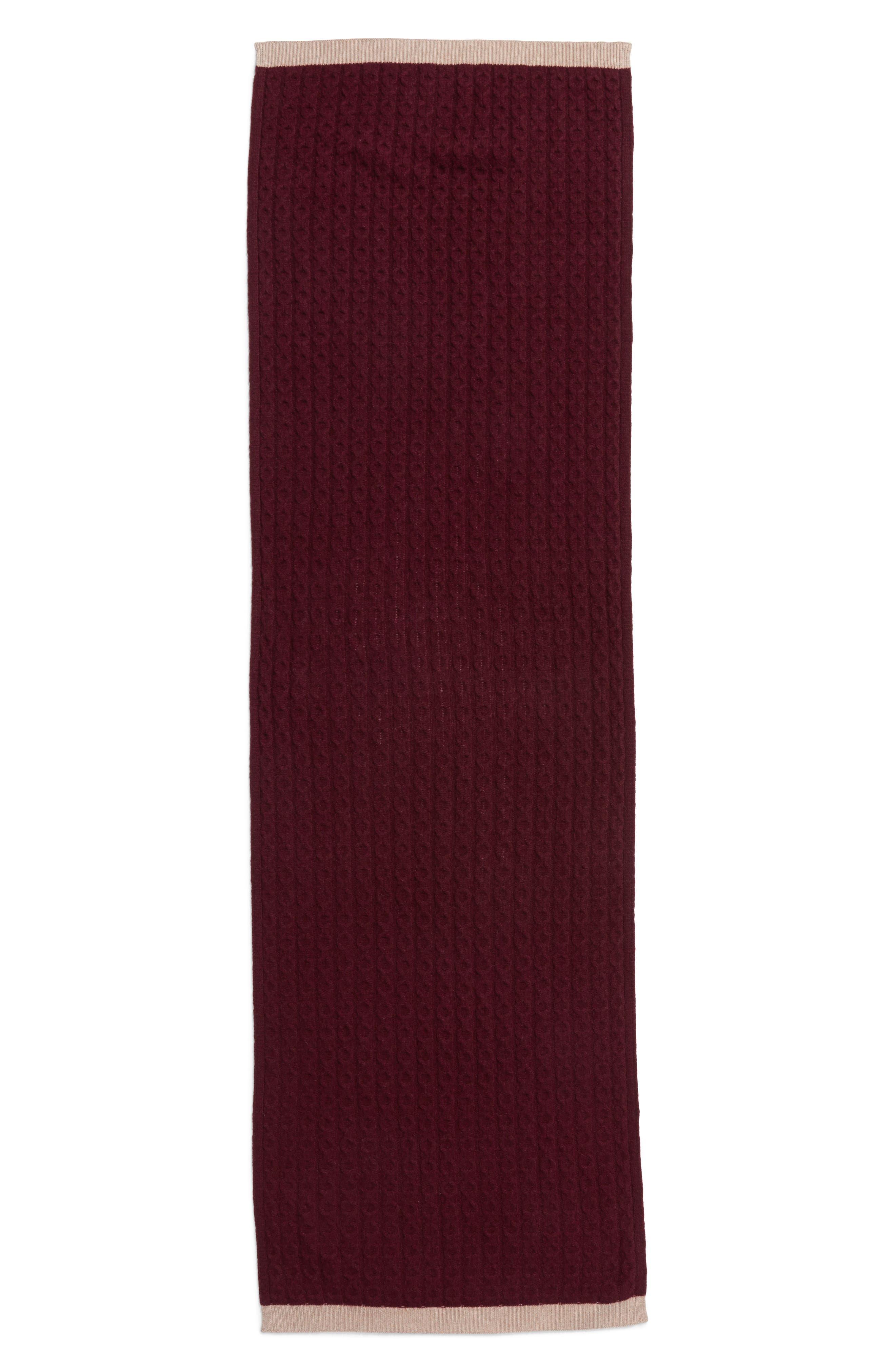 Alternate Image 2  - Halogen® Cable Knit Cashmere Scarf