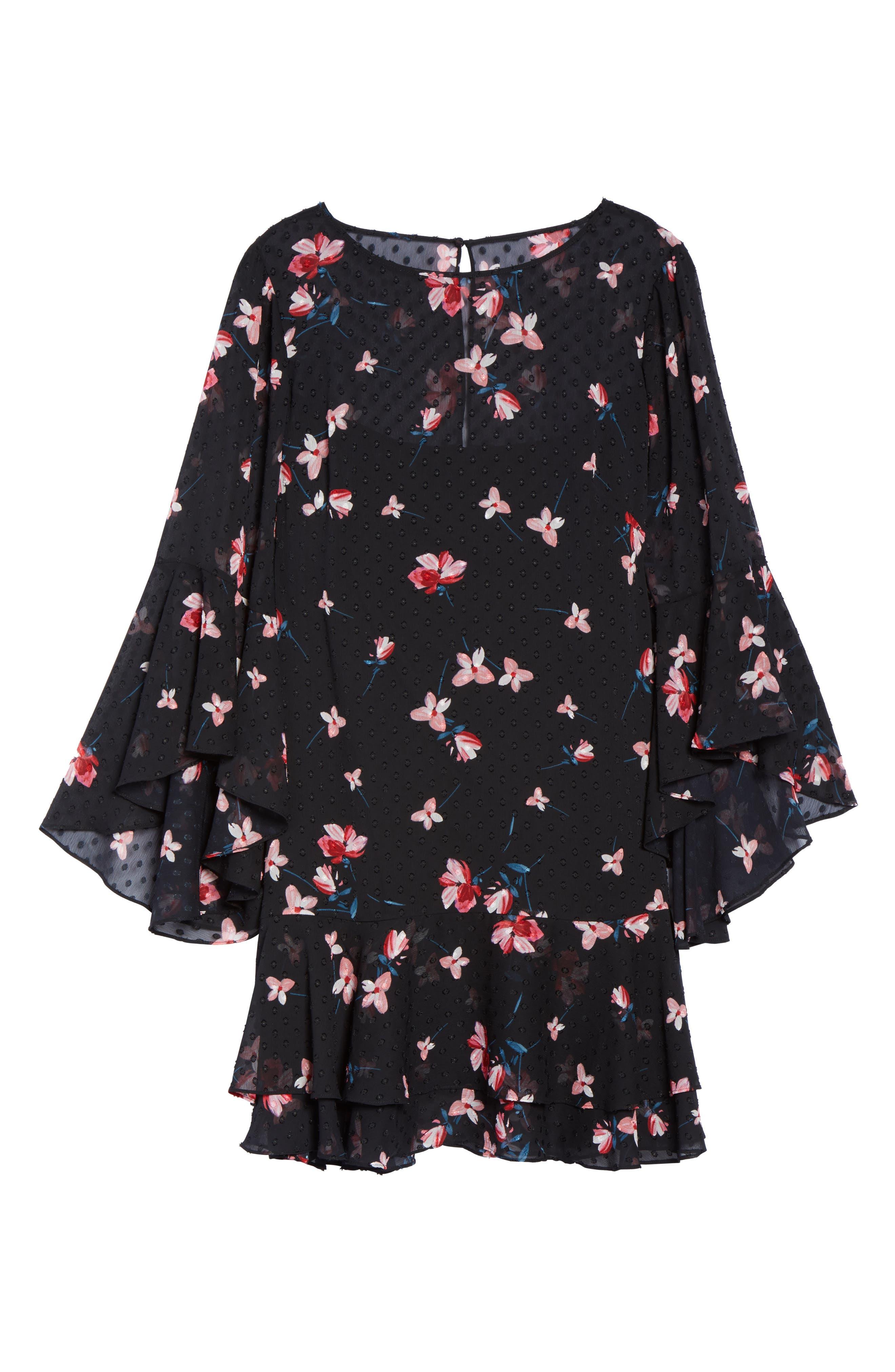 Alternate Image 7  - Eliza J Ruffle Fit & Flare Dress (Plus Size)