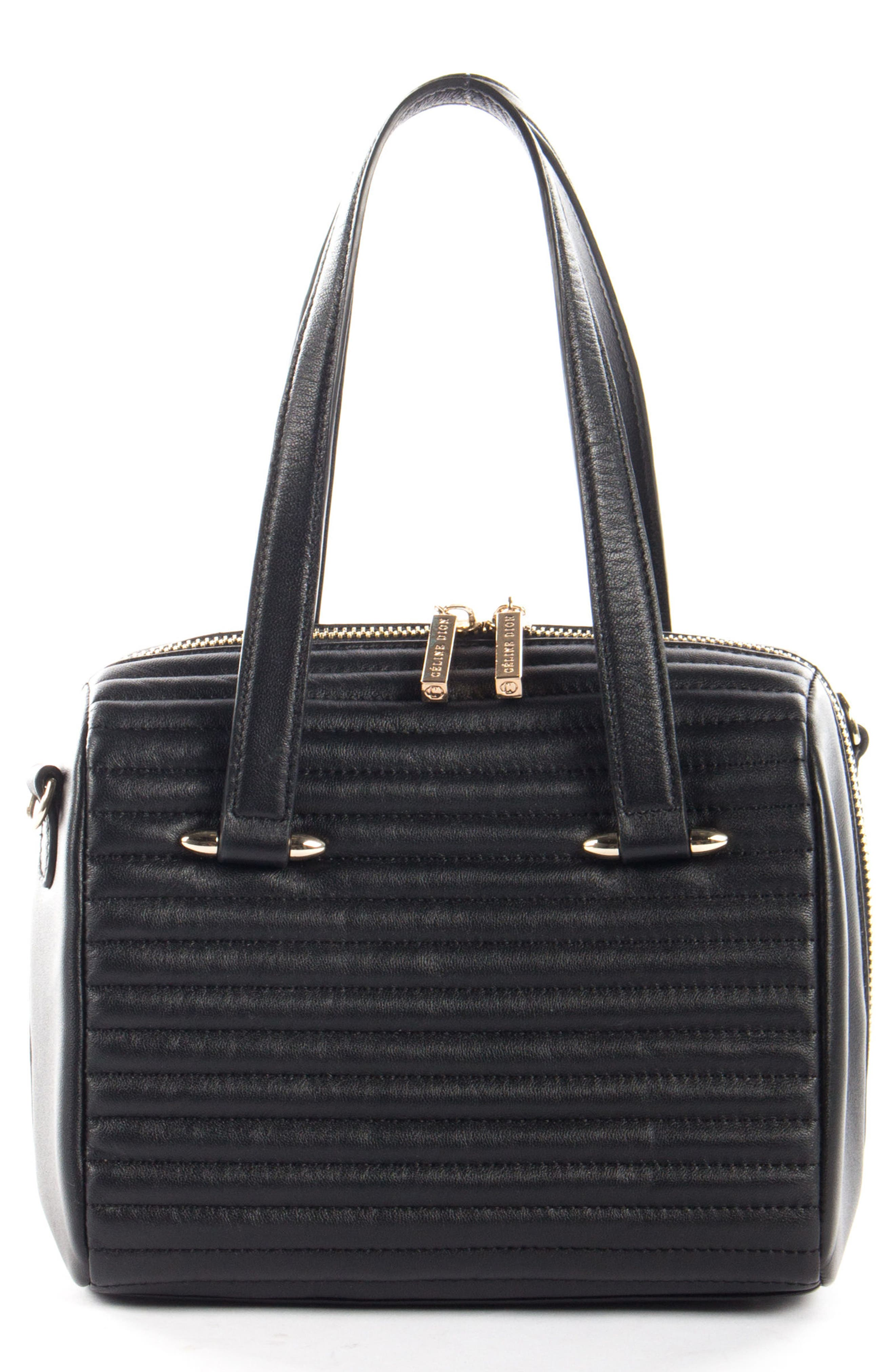 Céline Dion Vibrato Quilted Lambskin Leather Tote,                         Main,                         color, Black
