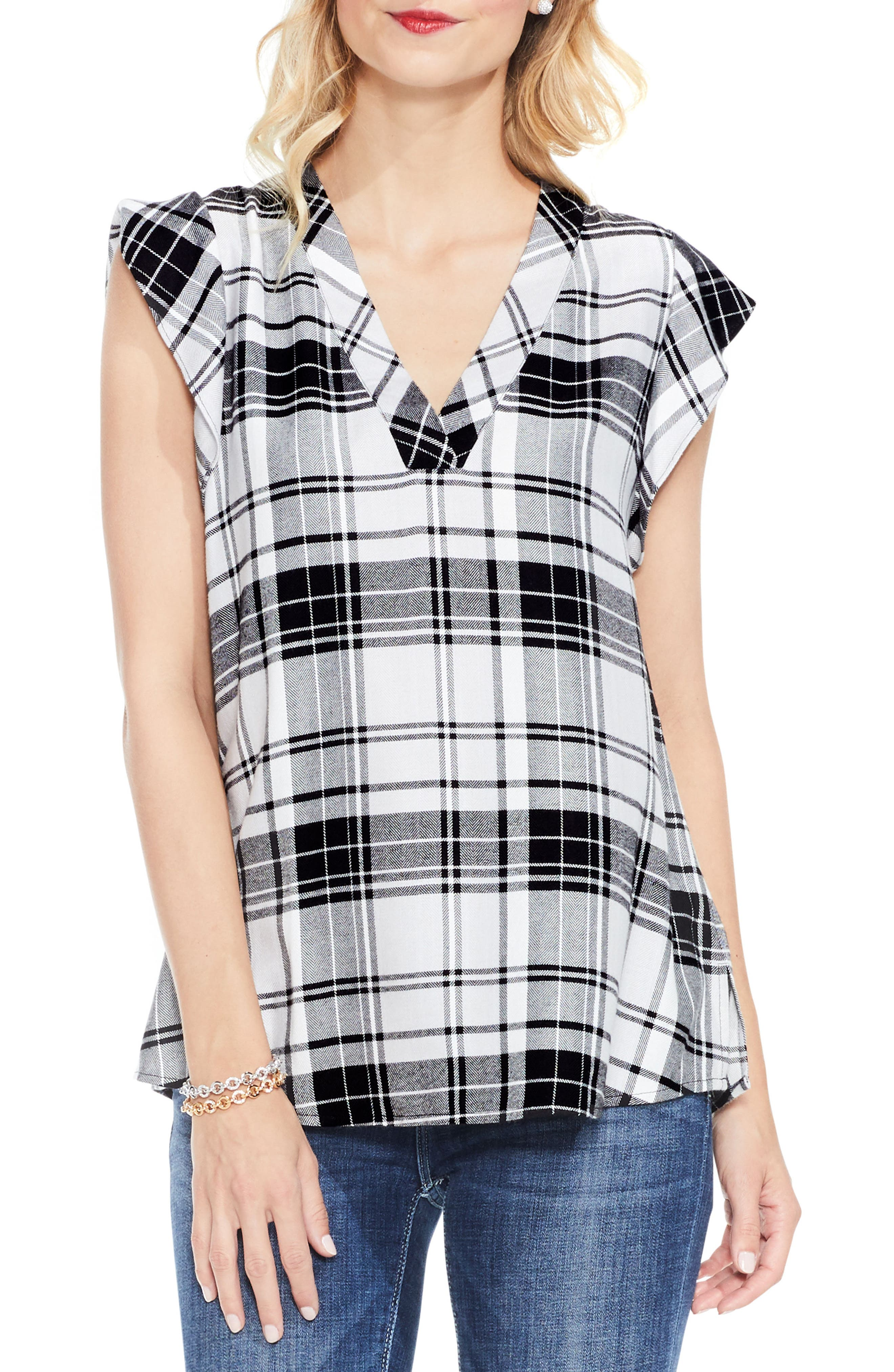 Alternate Image 1 Selected - Two by Vince Camuto Bedford Plaid Top