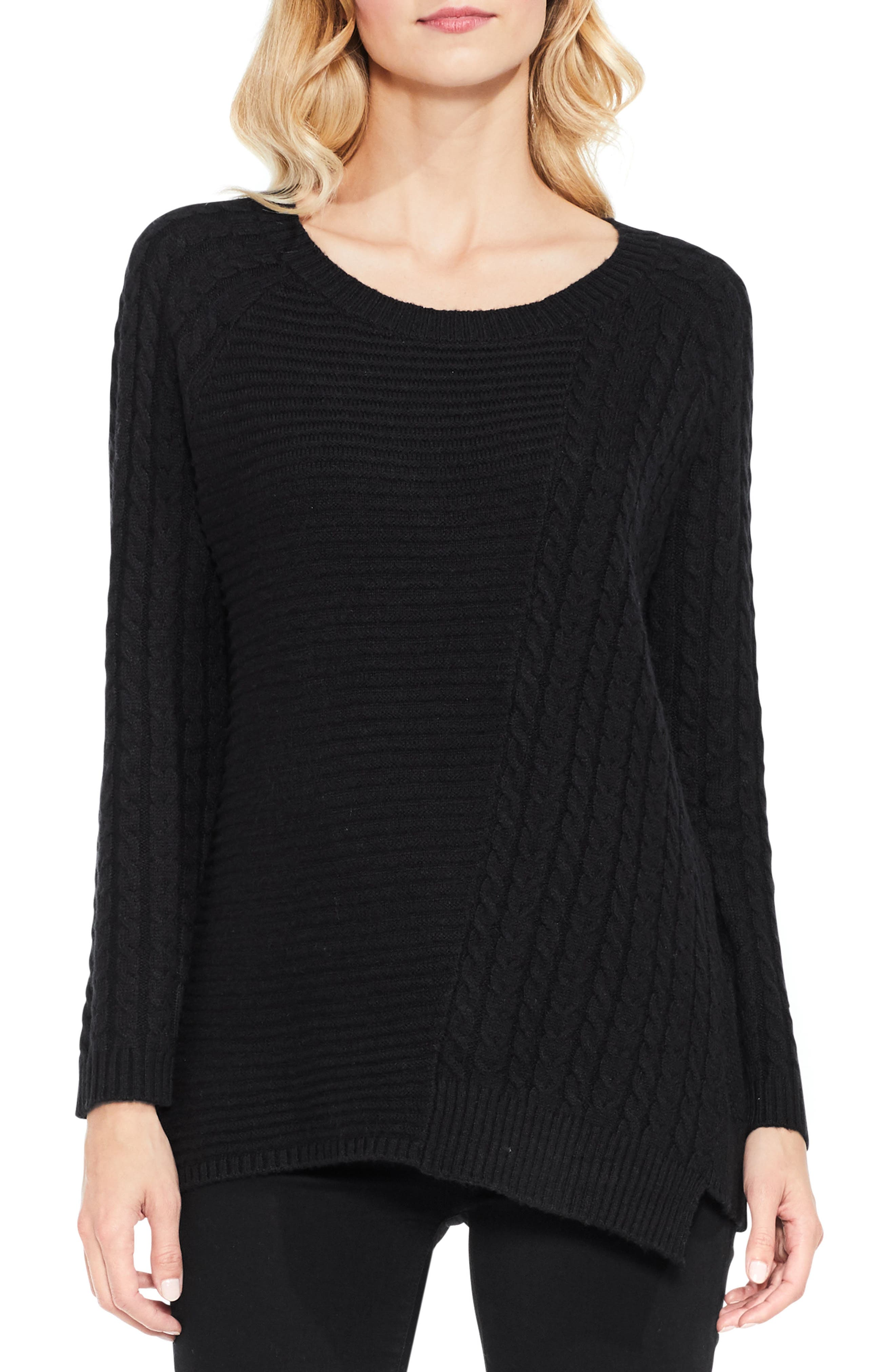 Two by Vince Camuto Mixed Stitch Sweater