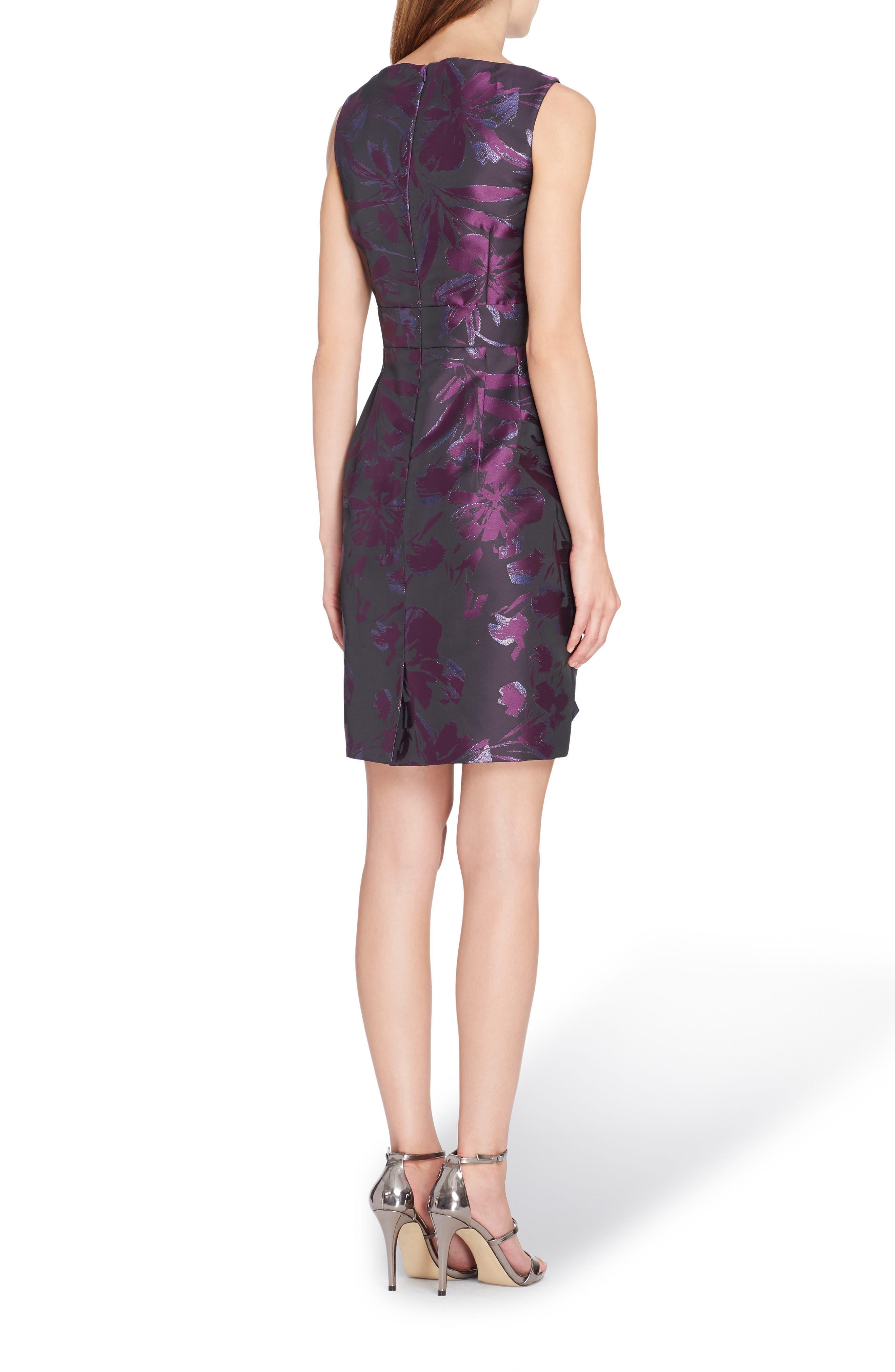 Alternate Image 2  - Tahari Metallic Jacquard Sheath Dress (Regular & Petite)