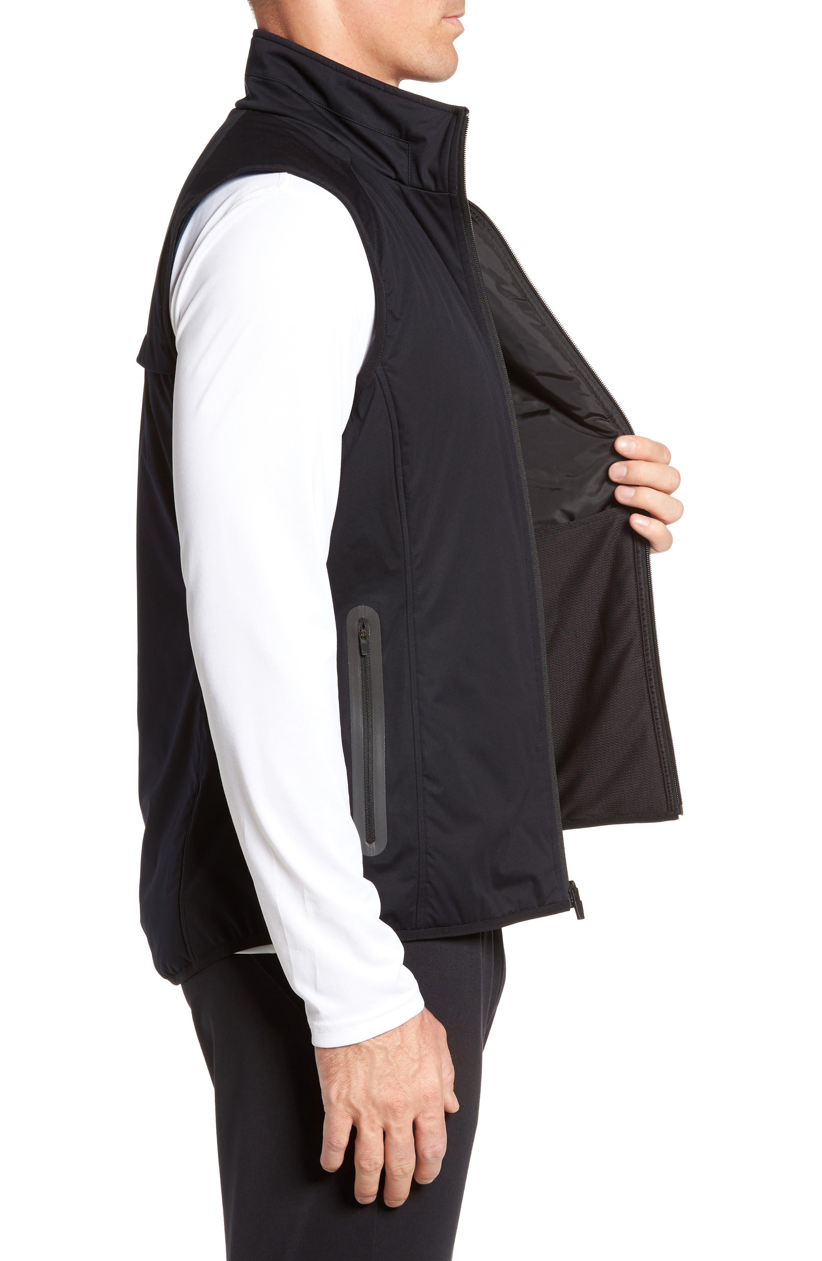 Soft Shell Zip Vest,                             Alternate thumbnail 3, color,                             Black