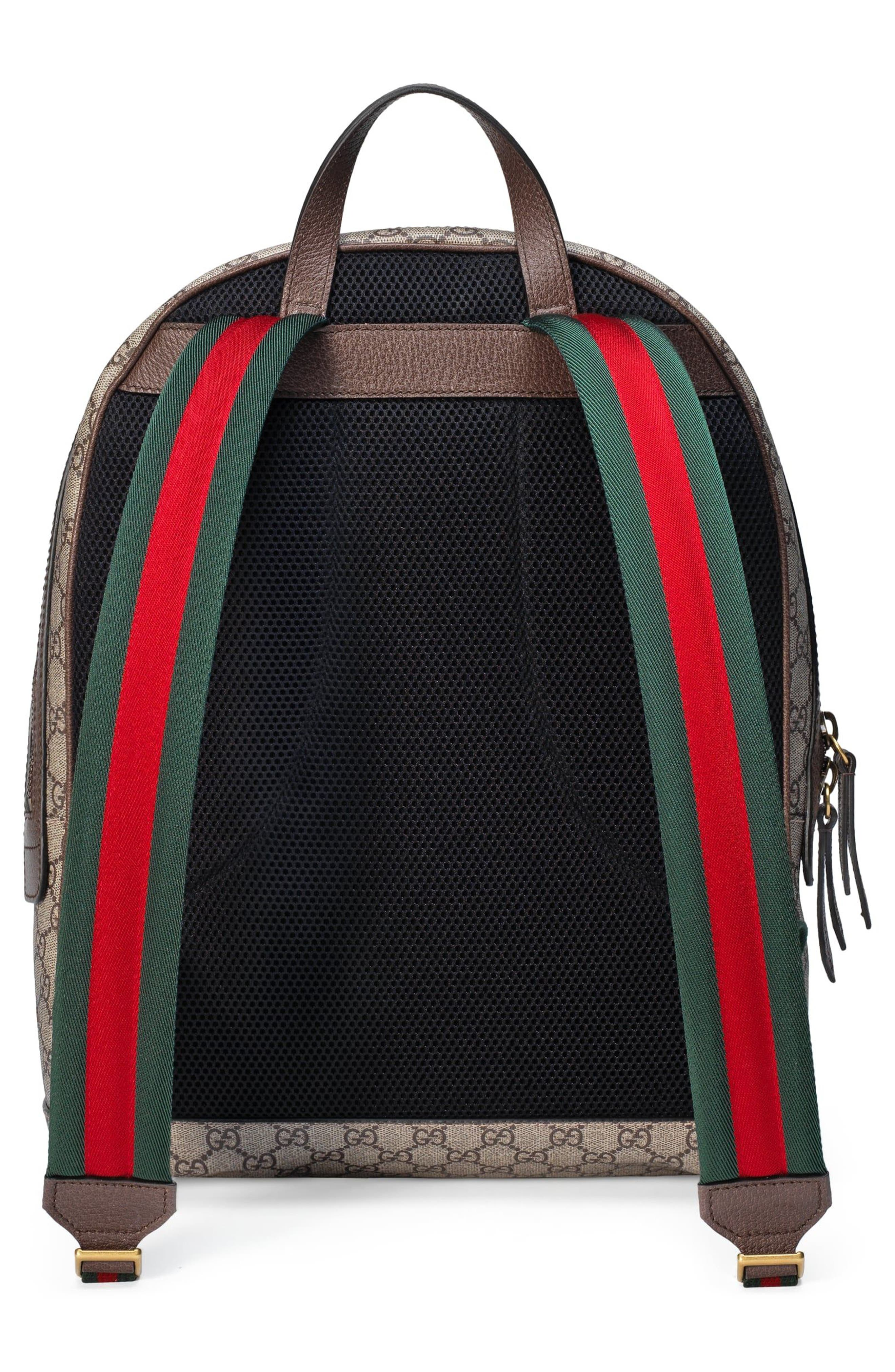 Alternate Image 2  - Gucci Insect Print GG Supreme Canvas Backpack