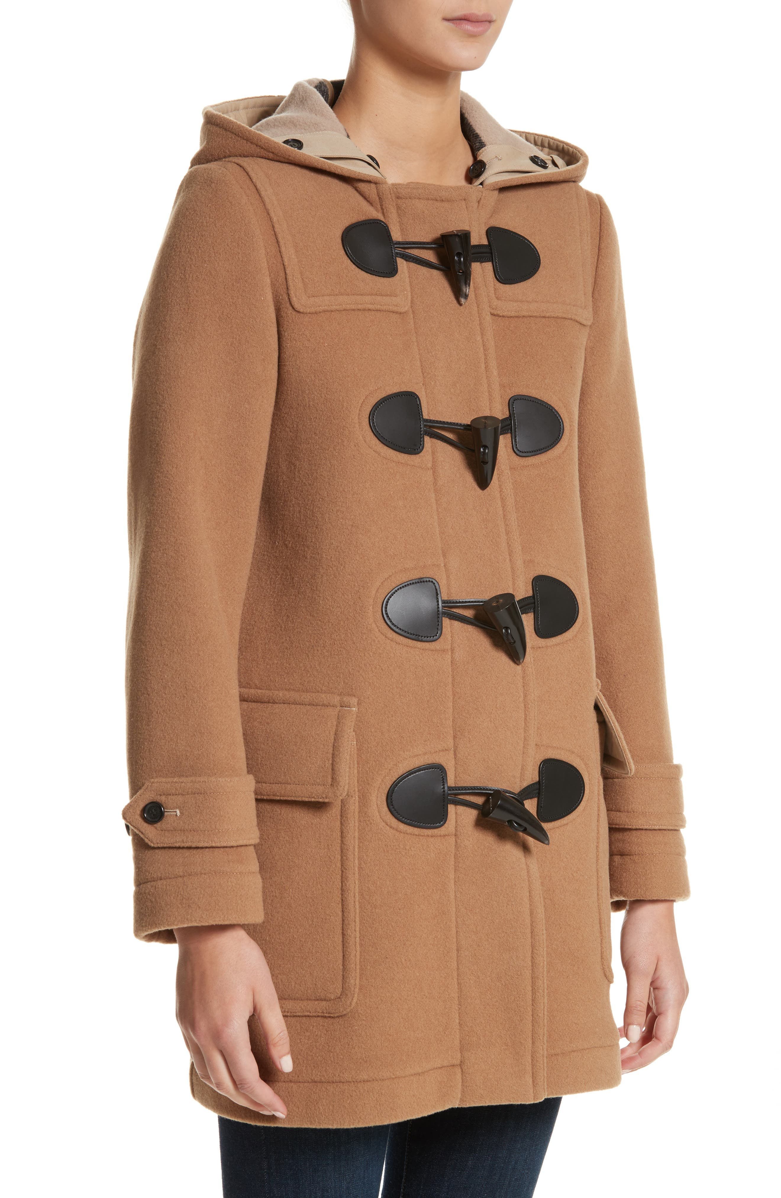 Burberry Mersey Wool Blend Duffle Coat