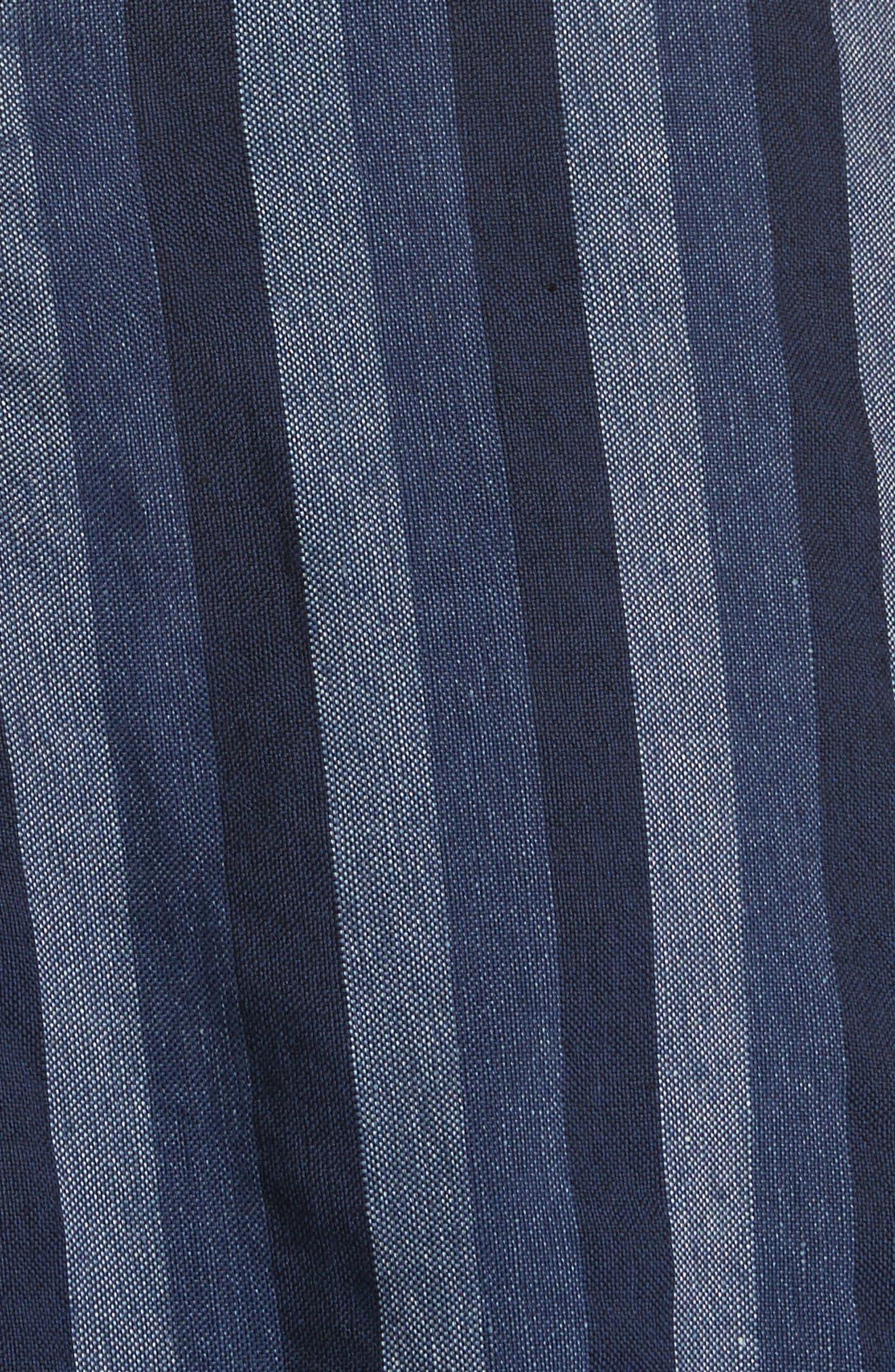 Alternate Image 5  - Carolina Herrera Stripe Denim Midi Dress