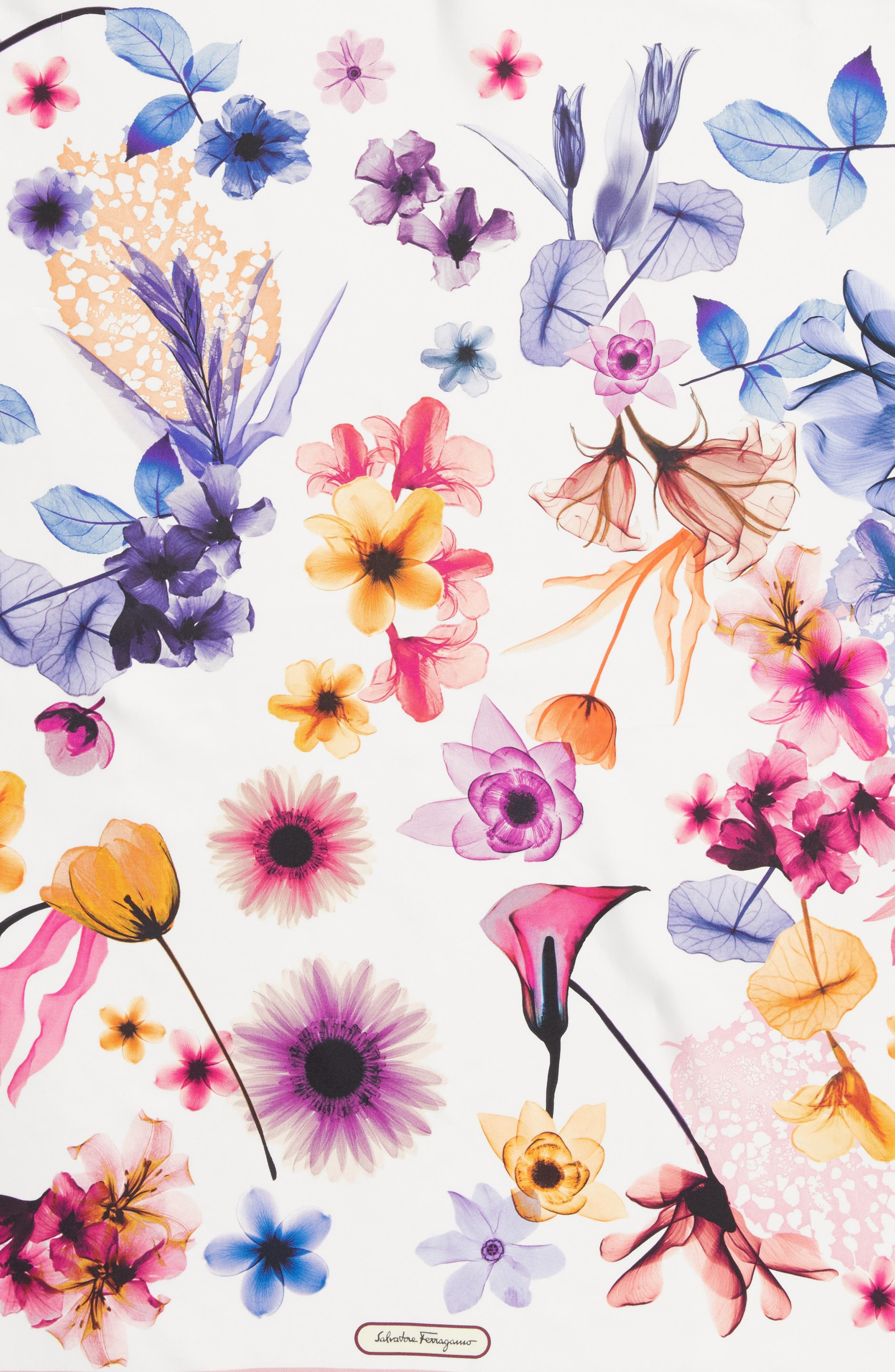 Silk Square Scarf,                             Alternate thumbnail 4, color,                             F.Cipria