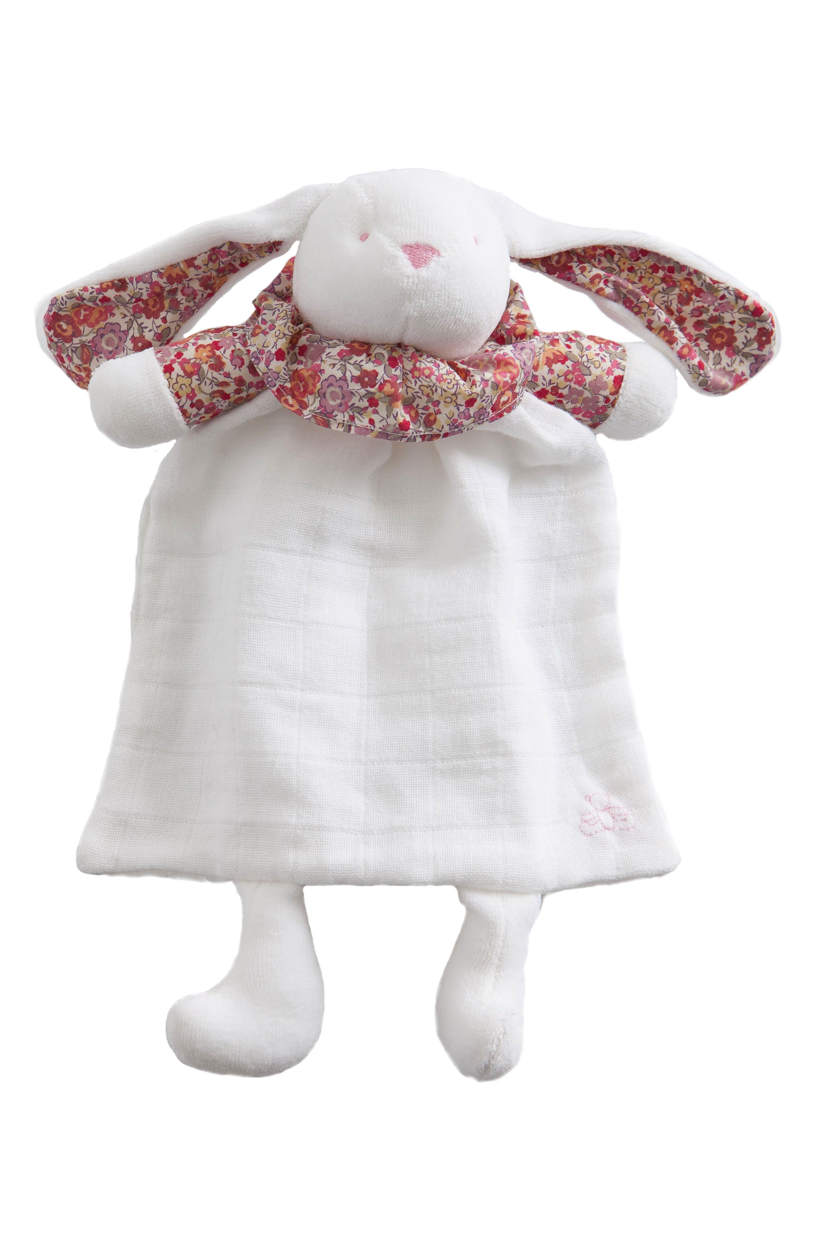 x Liberty of London Rabbit Lovey Toy,                             Main thumbnail 1, color,                             Red