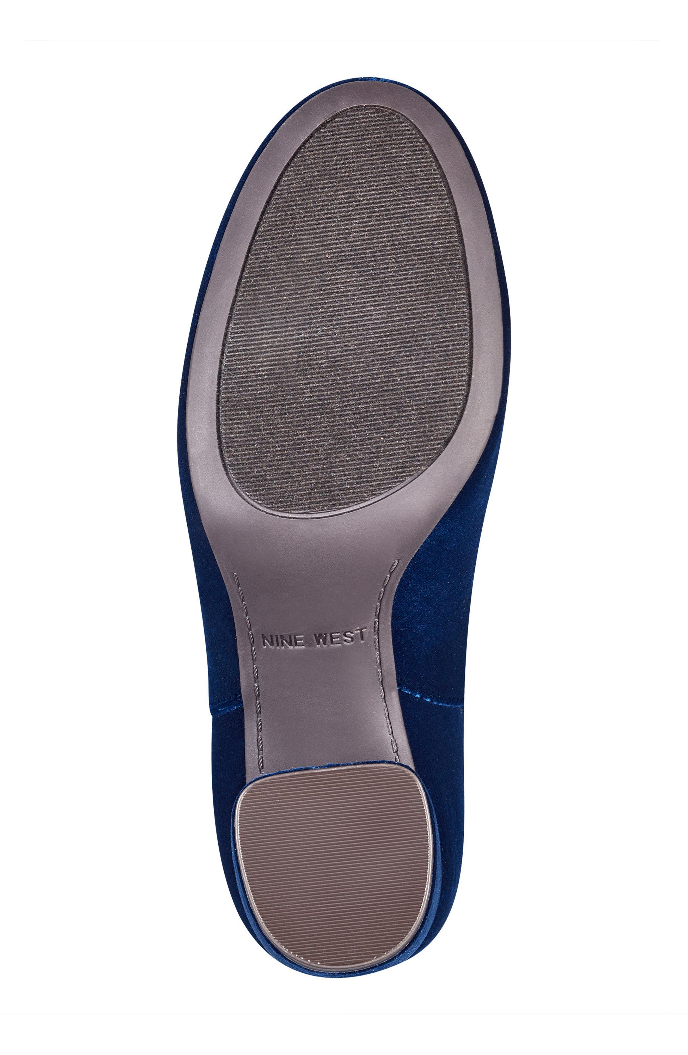Kerianna Knee High Boot,                             Alternate thumbnail 6, color,                             Navy Fabric