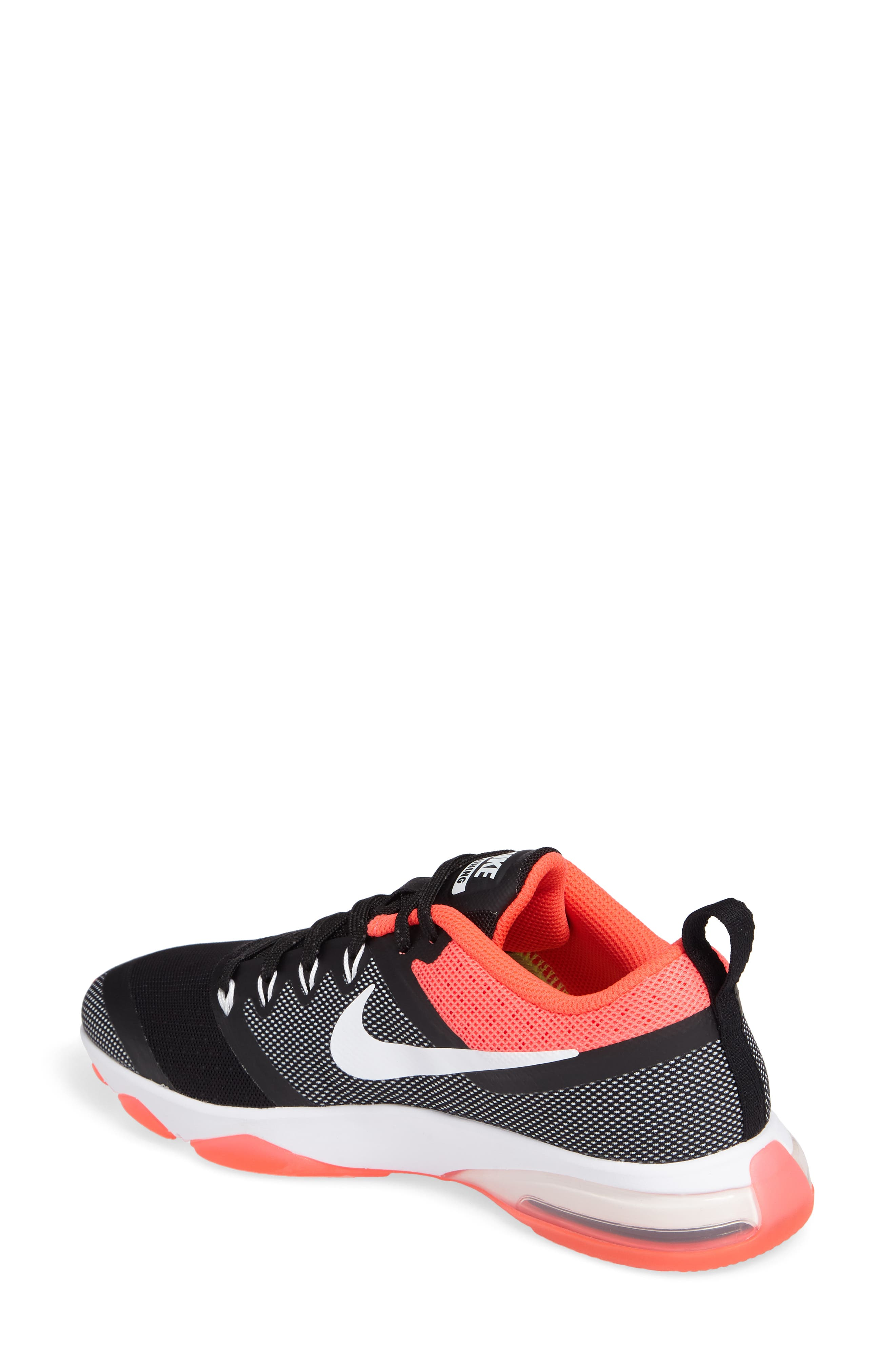 Air Zoom Fitness Training Shoe,                             Alternate thumbnail 2, color,                             Black/ White/ Solar Red