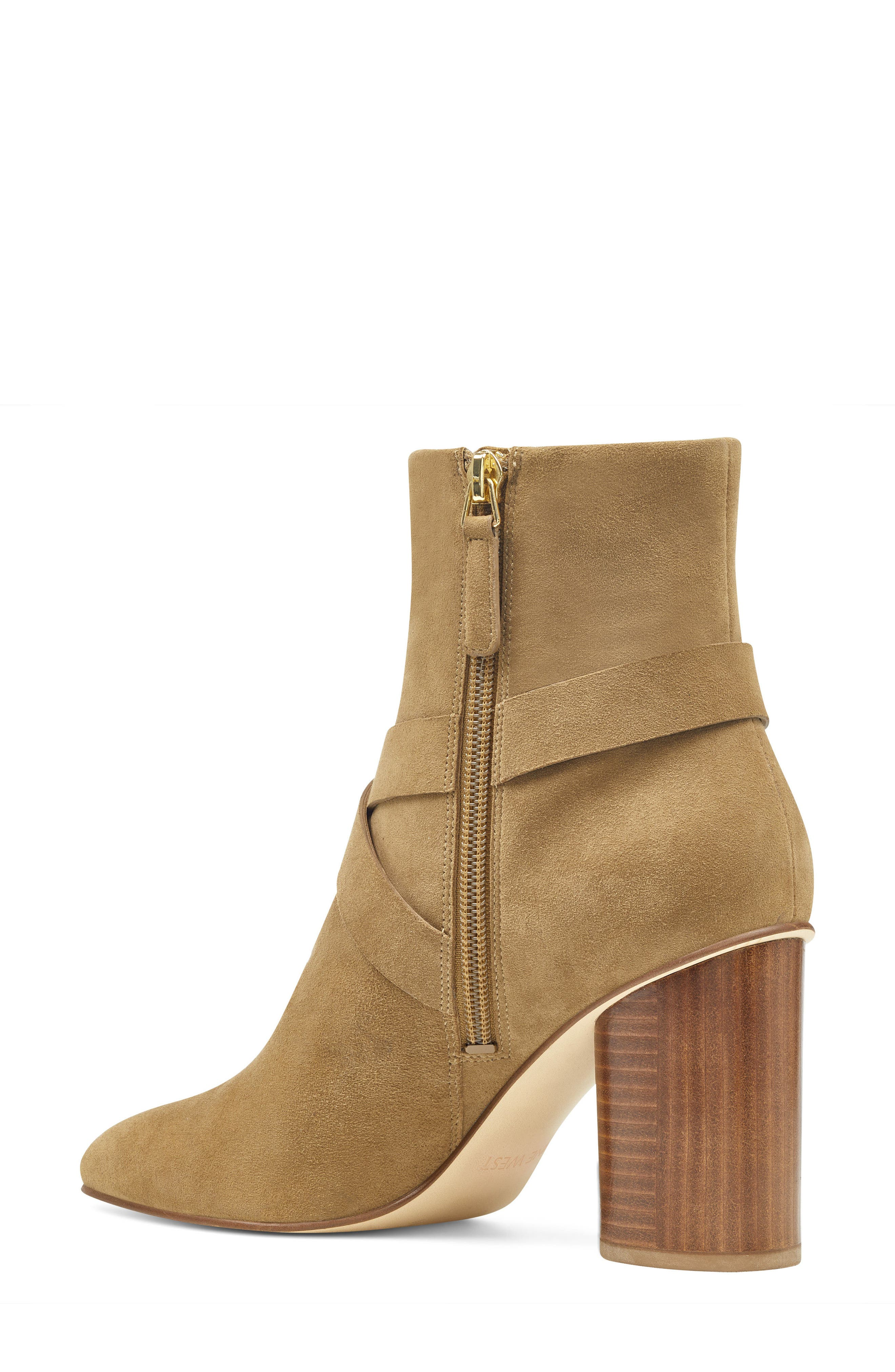 Cavanagh Pointy Toe Bootie,                             Alternate thumbnail 2, color,                             Green Suede