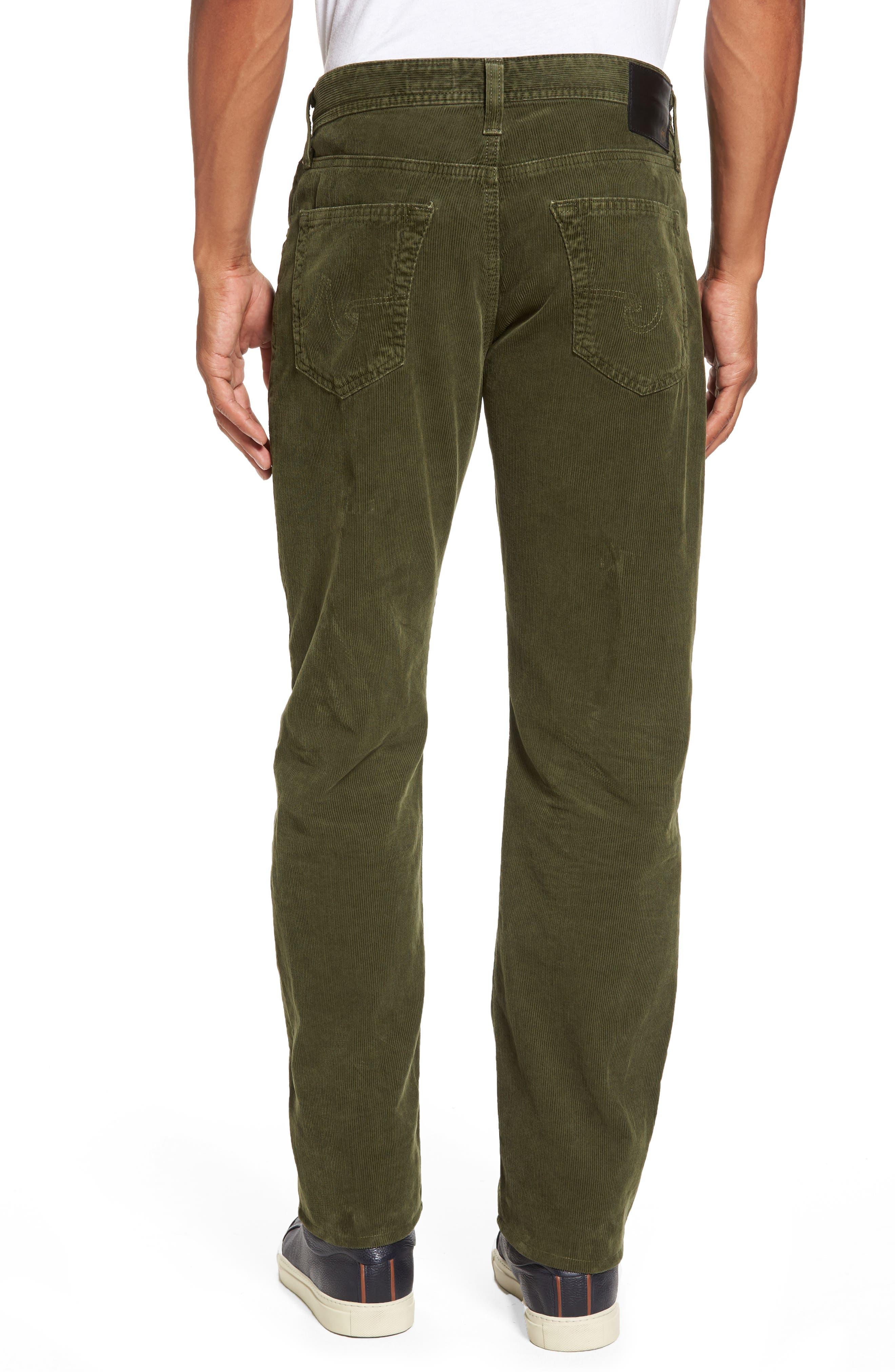 'Graduate' Tailored Straight Leg Corduroy Pants,                             Alternate thumbnail 2, color,                             Sulfur Climbing Ivy