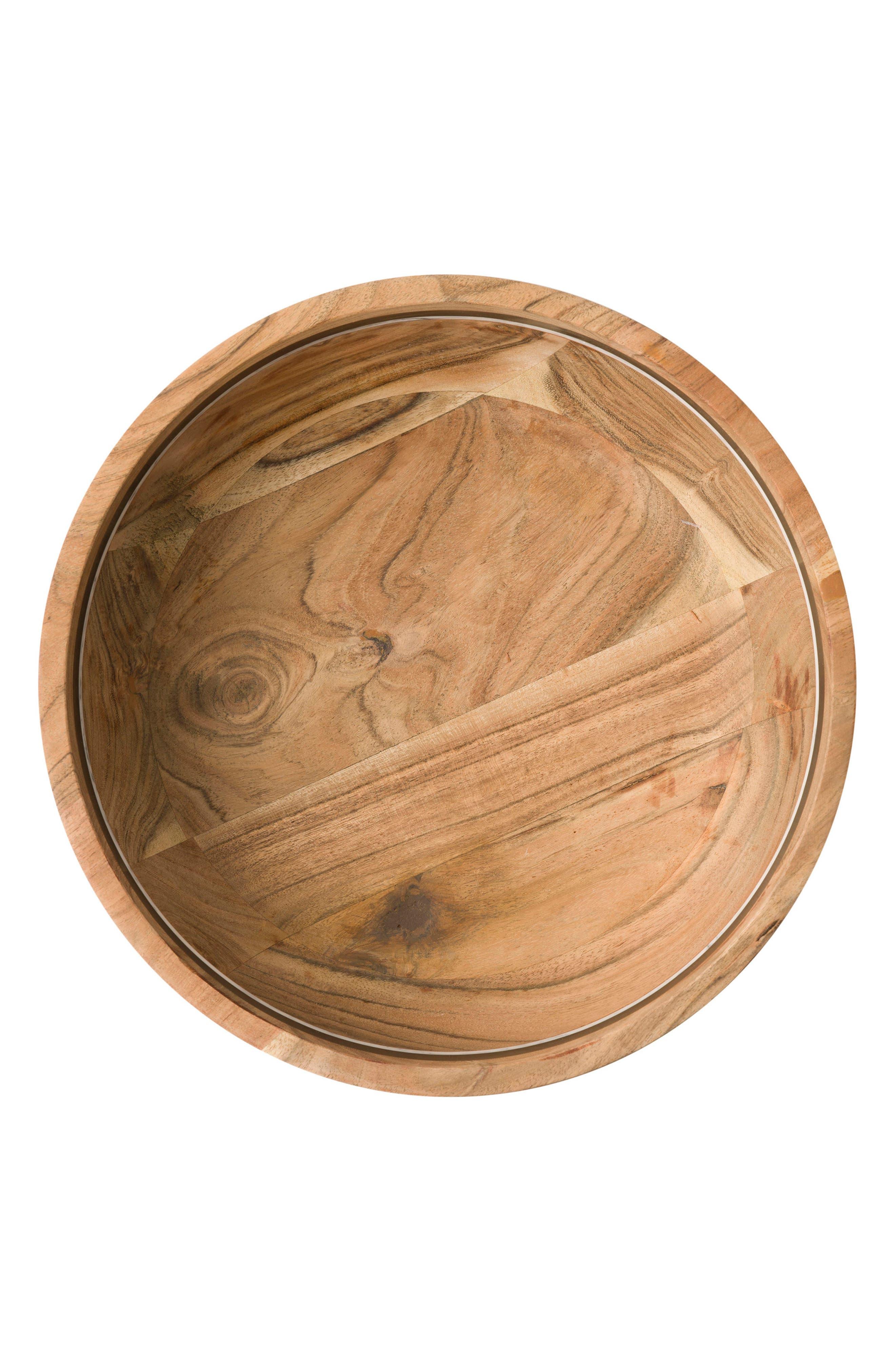 Stonewood Stripe Serving Bowl,                             Alternate thumbnail 2, color,                             Wood